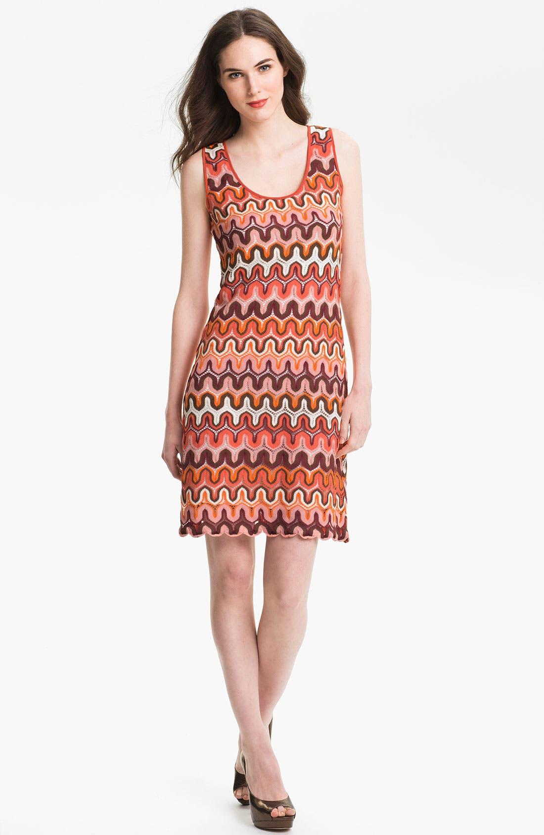 Main Image - Karen Kane Crochet Tank Dress