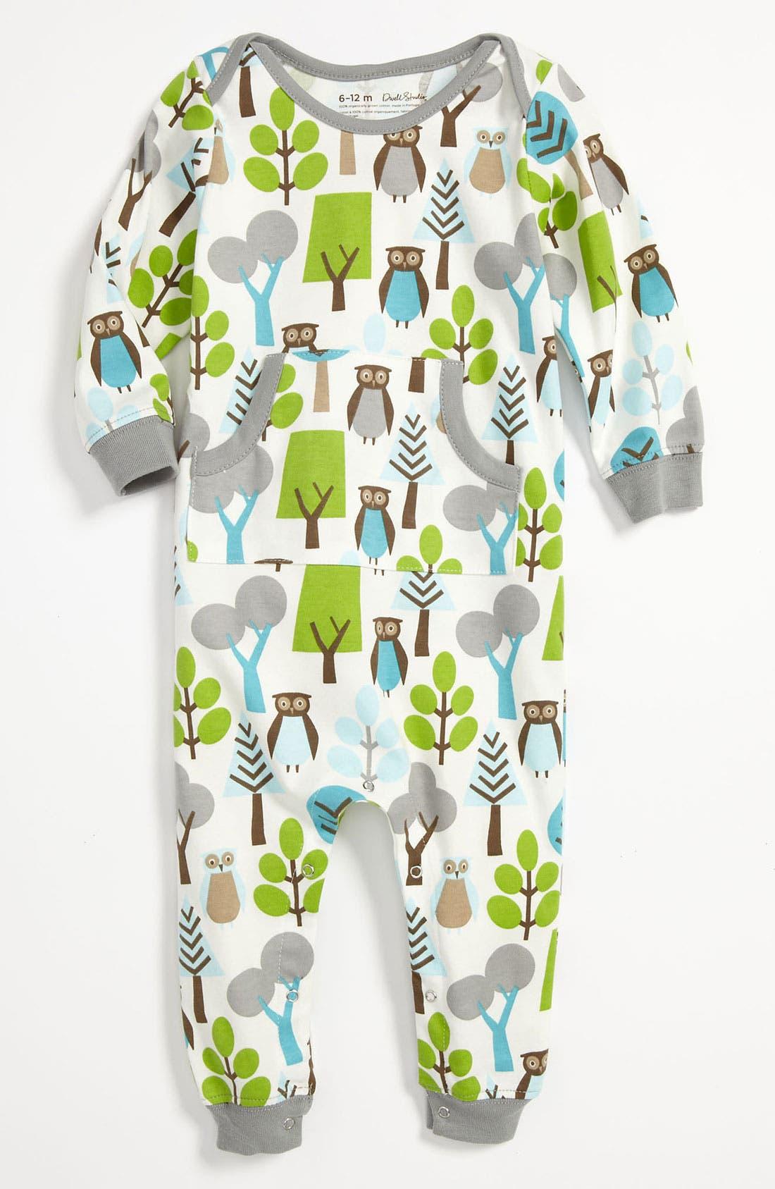 Alternate Image 1 Selected - DwellStudio 'Owl' Romper (Infant)