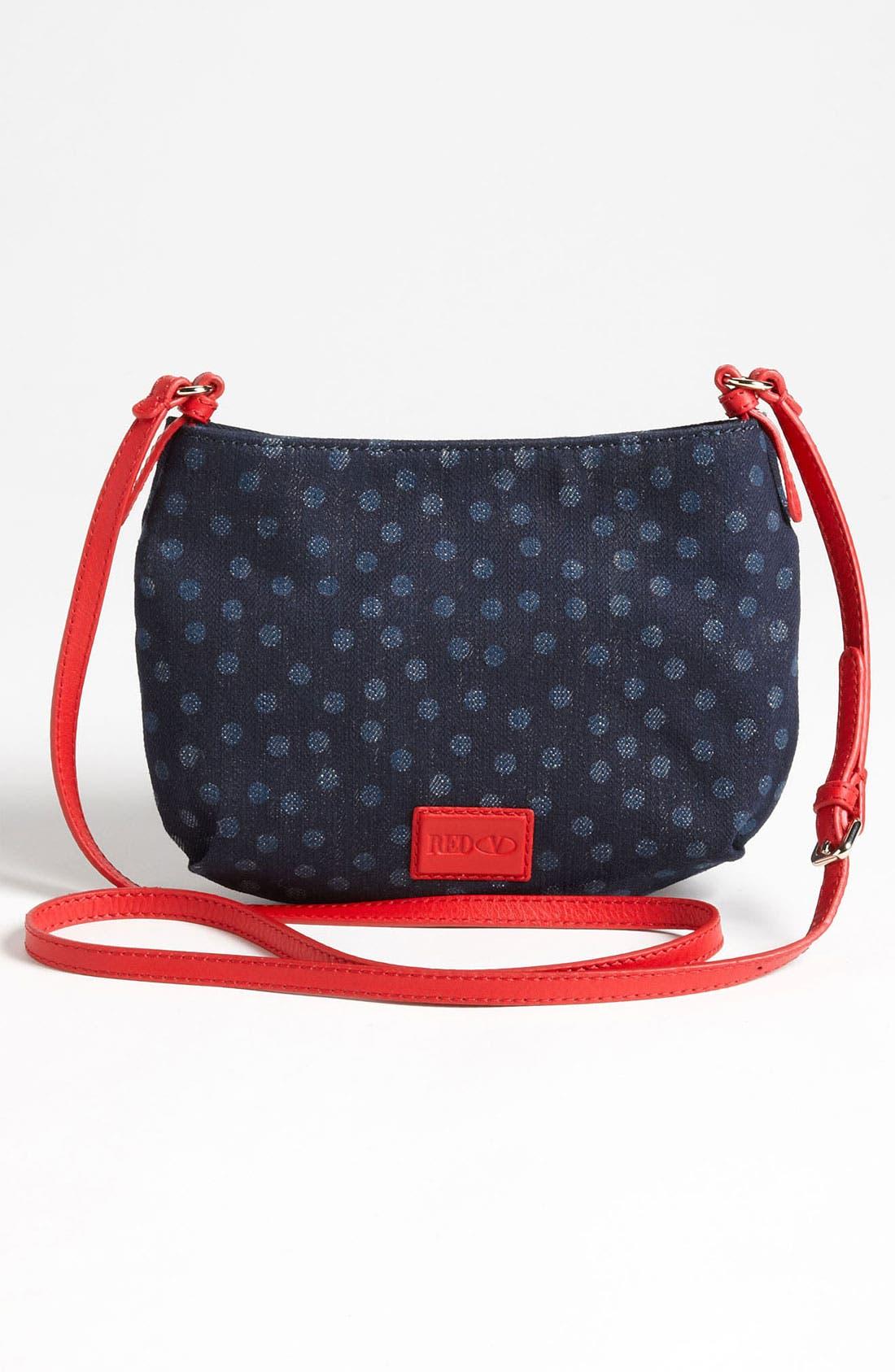 Alternate Image 4  - RED Valentino 'Bow' Denim Crossbody Bag