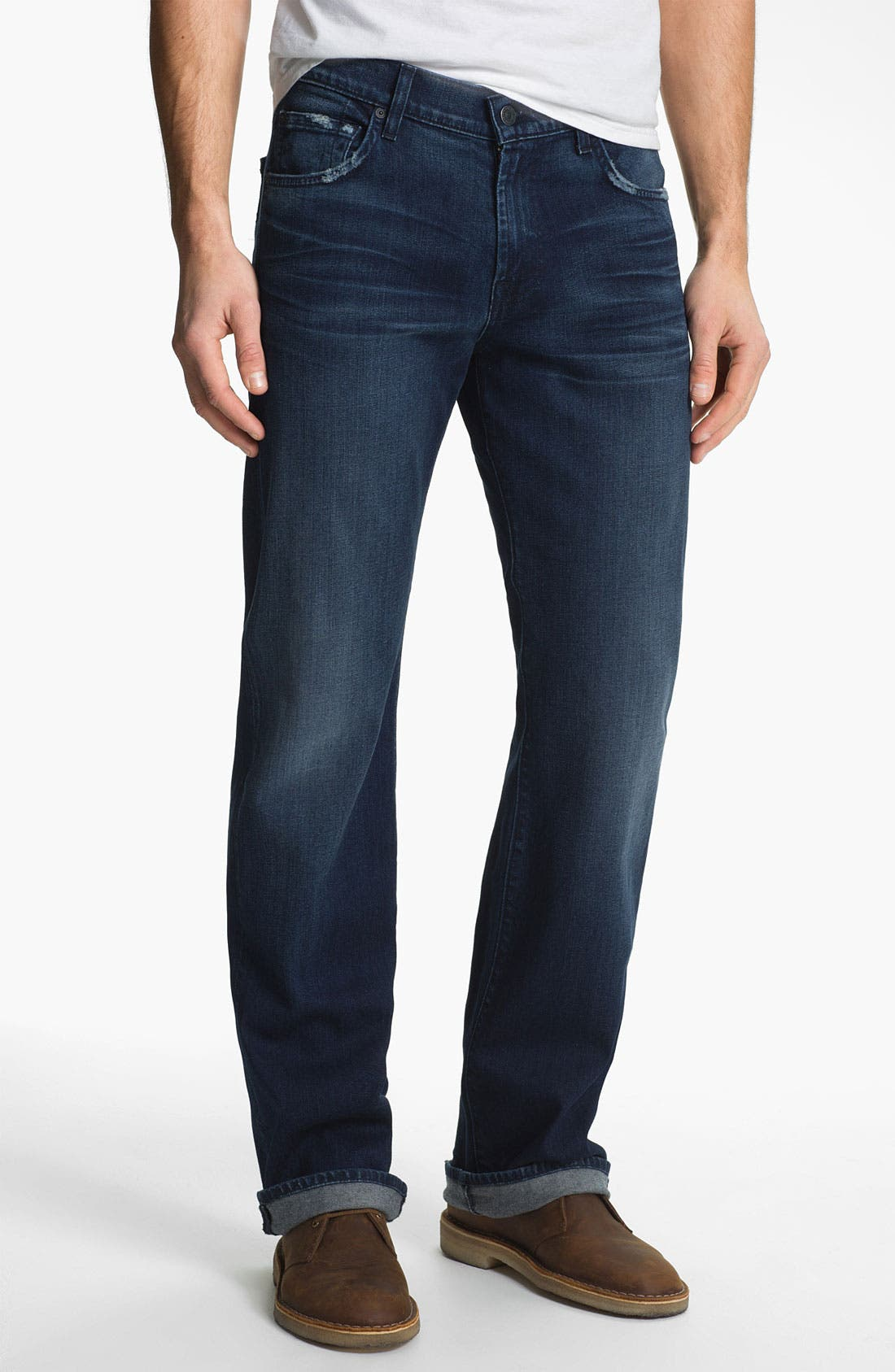 Alternate Image 2  - 7 For All Mankind® 'Austyn' Relaxed Straight Leg Jeans (Authentic Indigo)
