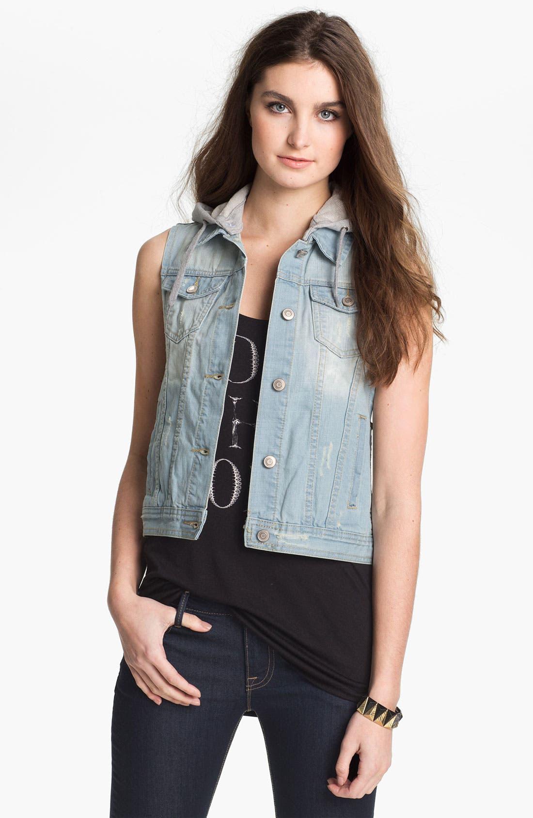 Alternate Image 1 Selected - Thread & Supply Layered Denim Vest (Juniors)