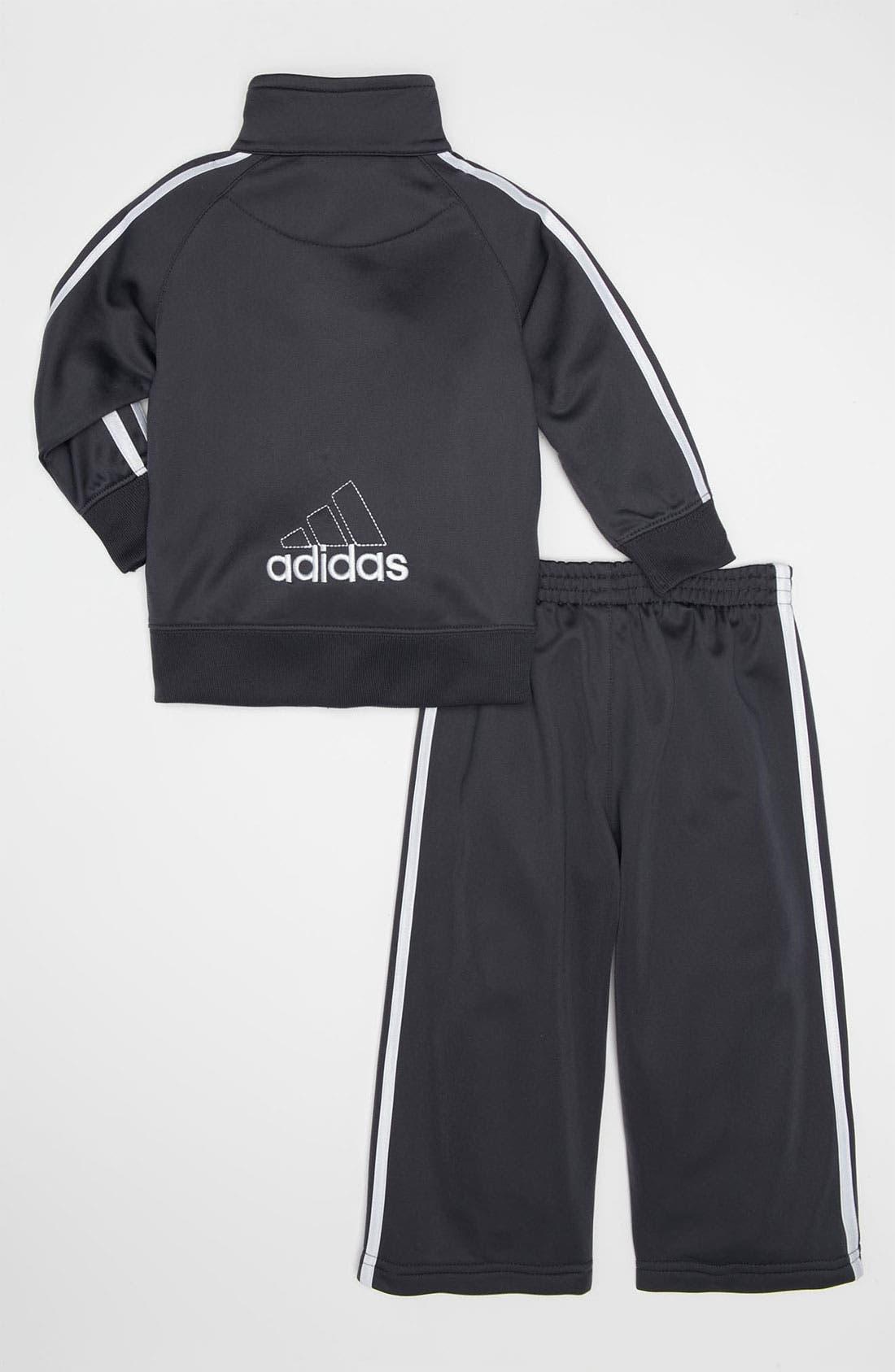Alternate Image 2  - adidas Tricot Jacket & Pants Set (Toddler)