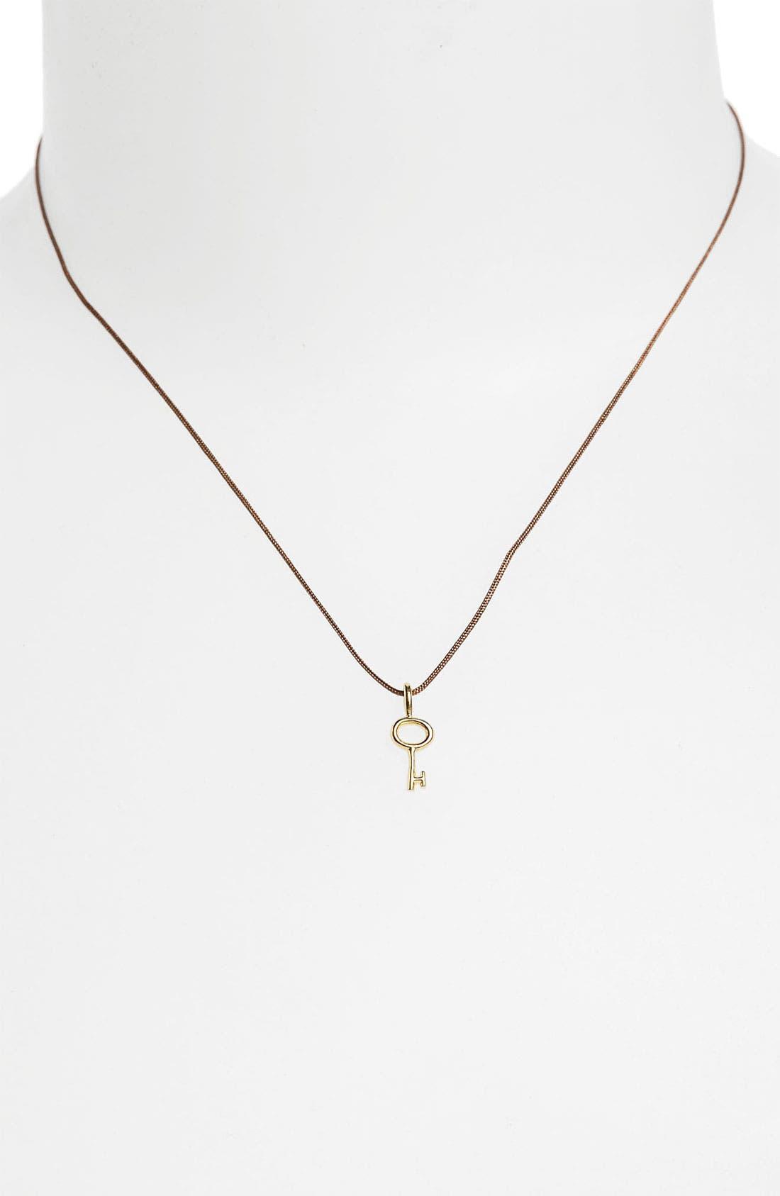 Alternate Image 2  - Dogeared 'Wish' Key Charm Necklace