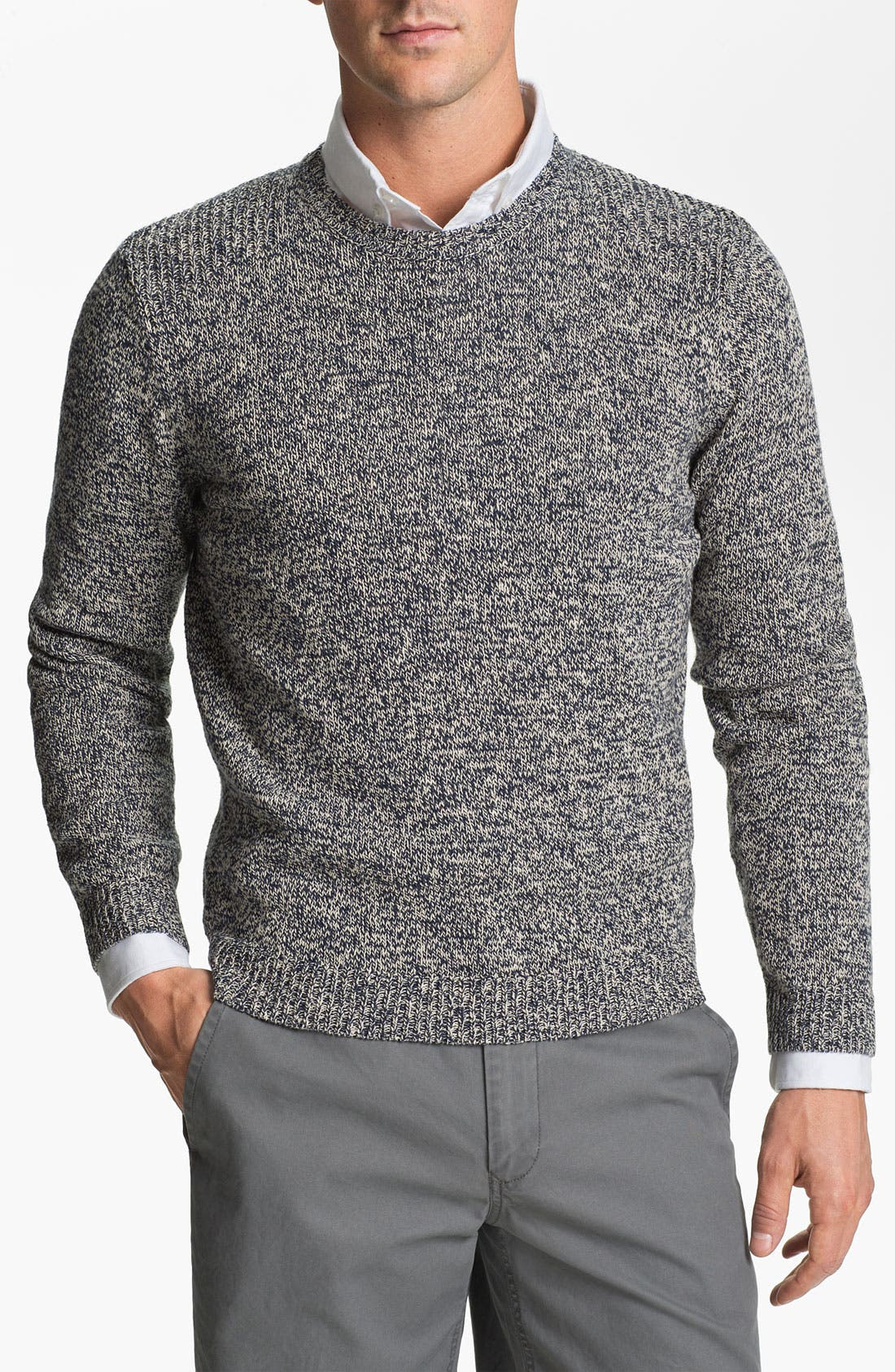 Main Image - Ted Baker London 'Keyston' Cotton & Linen Crewneck Sweater