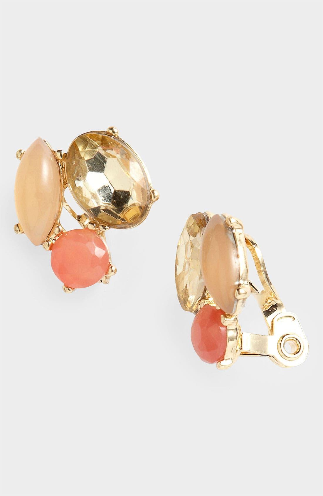 Alternate Image 1 Selected - Anne Klein Clip Stud Earrings