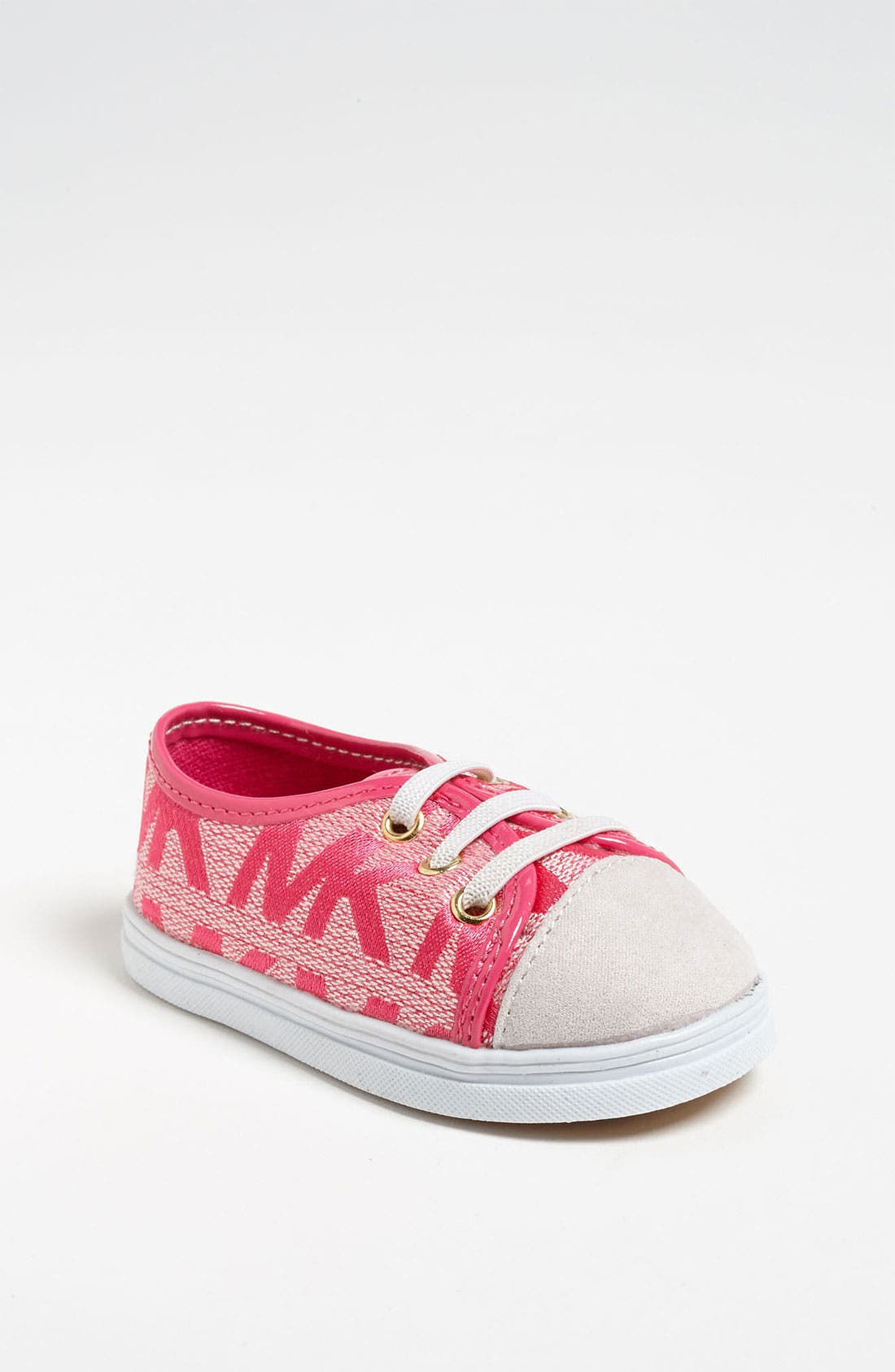 Alternate Image 1 Selected - MICHAEL Michael Kors 'Baby Monogram' Crib Shoe (Baby)