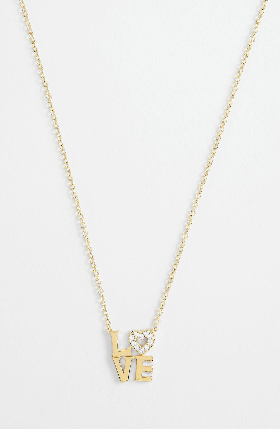 Alternate Image 1 Selected - Ariella Collection 'Messages - Love'  Pendant Necklace