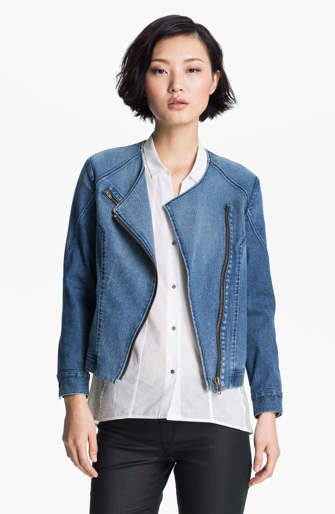 Alternate Image 2  - HELMUT Helmut Lang Denim Moto Jacket