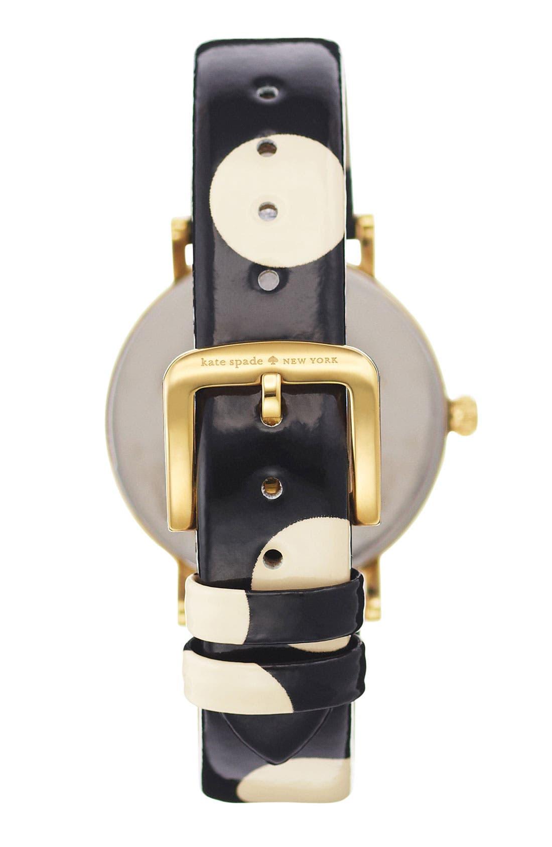 Alternate Image 3  - kate spade new york 'metro' polka dot strap watch, 34mm