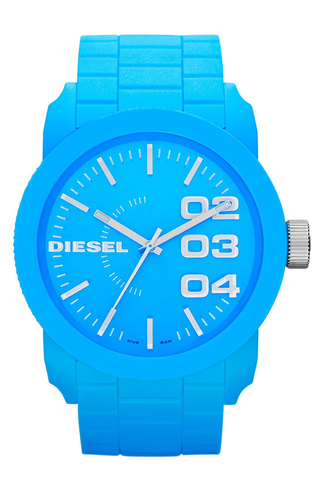 Alternate Image 1 Selected - DIESEL® 'Franchise' Silicone Strap Watch, 44mm
