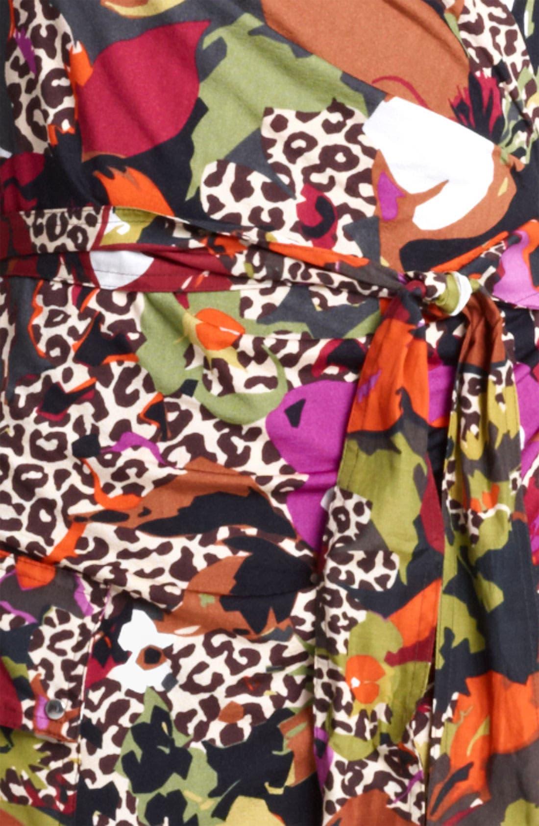 Alternate Image 3  - Max Mara Belted Floral Print Jersey Dress