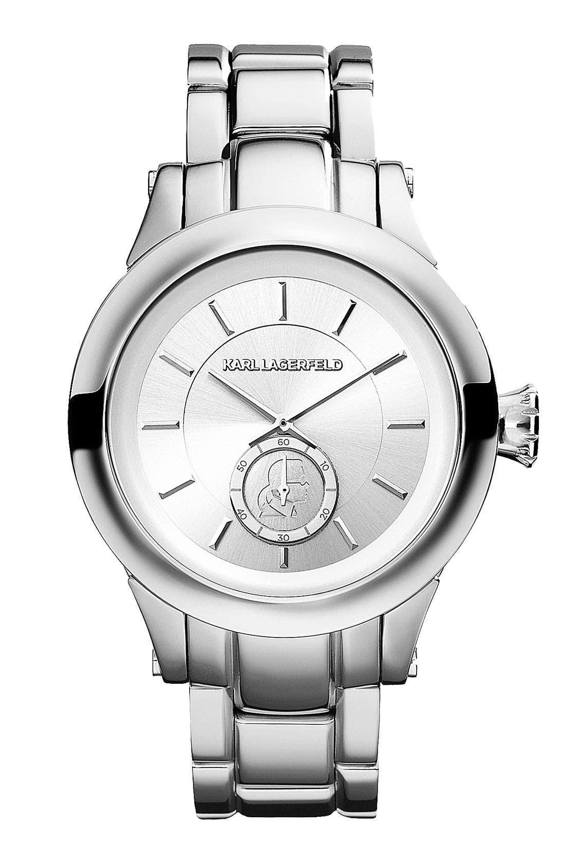 Main Image - KARL LAGERFELD Chain Detail Bracelet Watch, 40mm