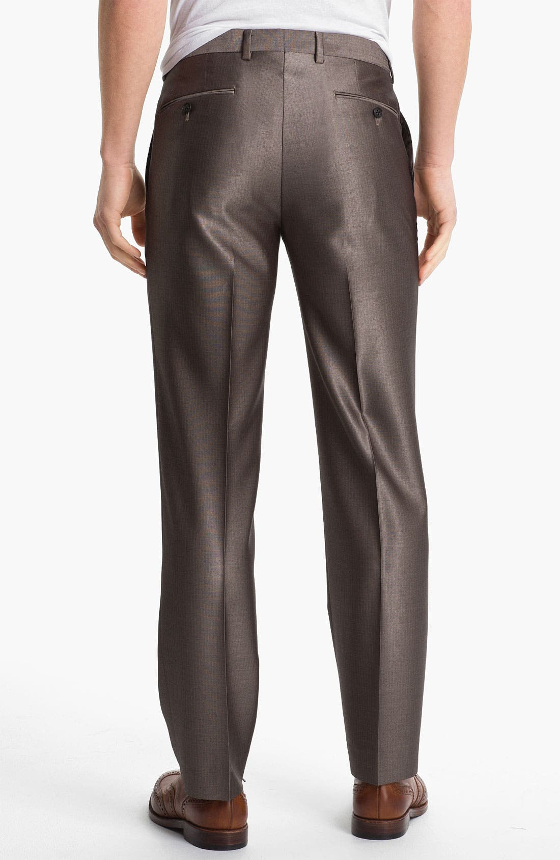 Alternate Image 2  - John Varvatos Star USA Red Label Flat Front Trousers