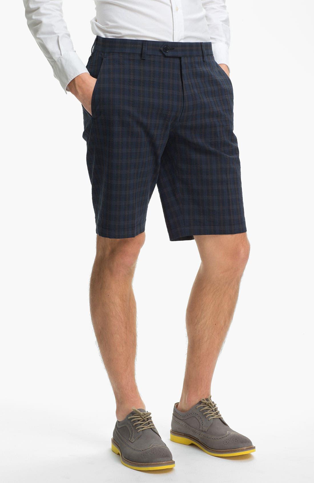Main Image - John Varvatos Star USA Red Label Seersucker Shorts