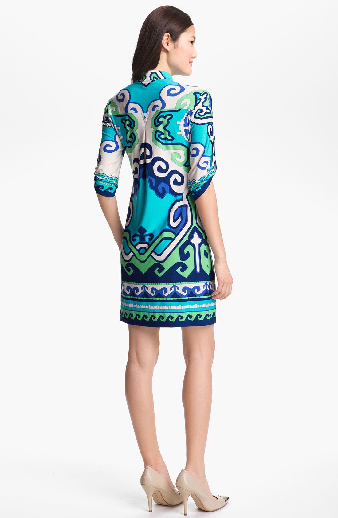 Alternate Image 2  - Donna Morgan Print Jersey Shift Dress