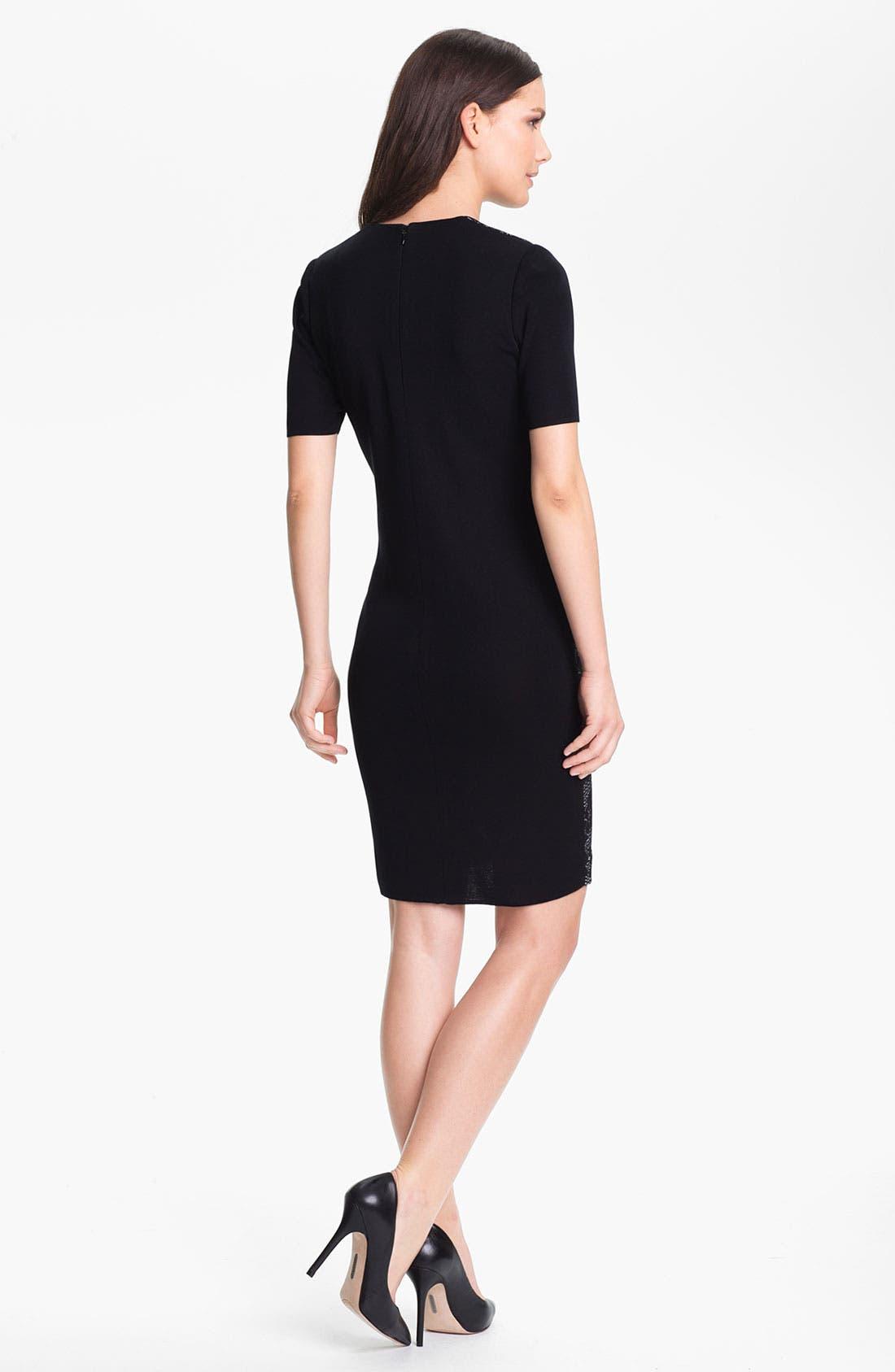 Alternate Image 2  - Exclusively Misook 'Eliza' Lace Front Dress (Petite)