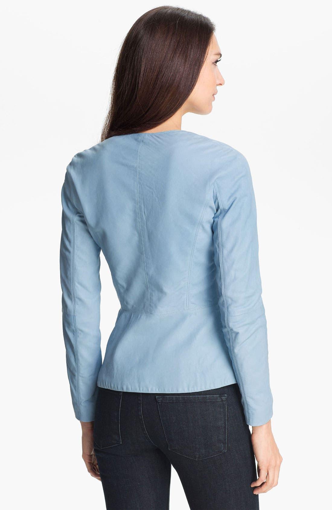 Alternate Image 2  - Theory 'Enora' Leather Jacket
