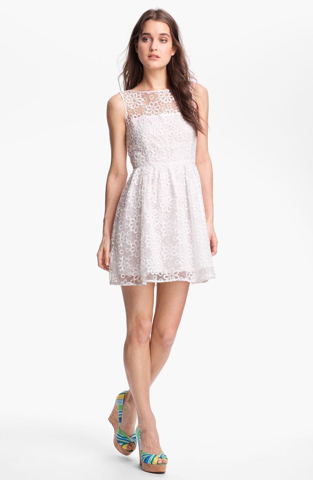 Alternate Image 1 Selected - BB Dakota 'Huela' Organza Fit & Flare Dress