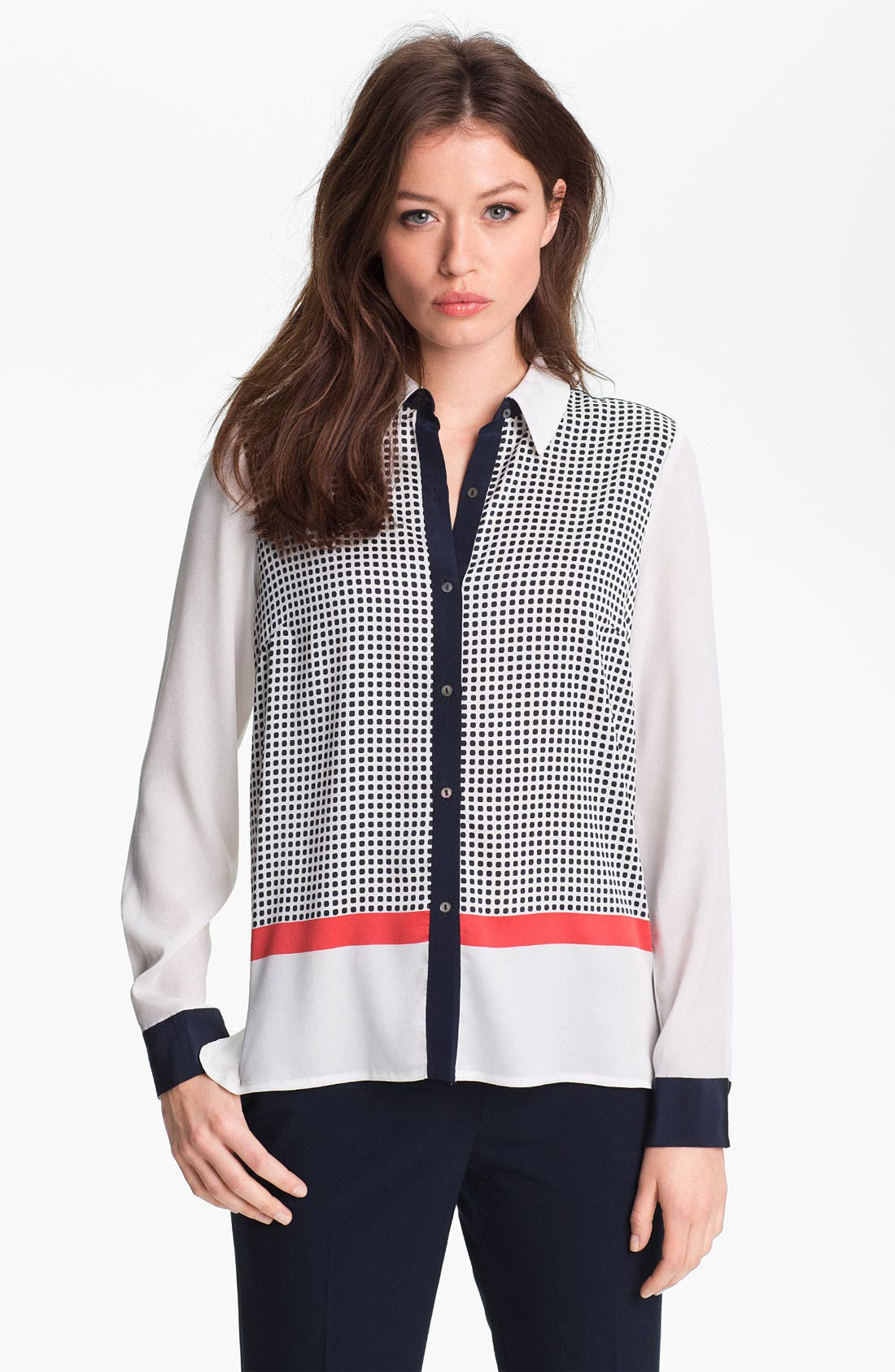 Alternate Image 1 Selected - Adrianna Papell Colorblock Utility Shirt