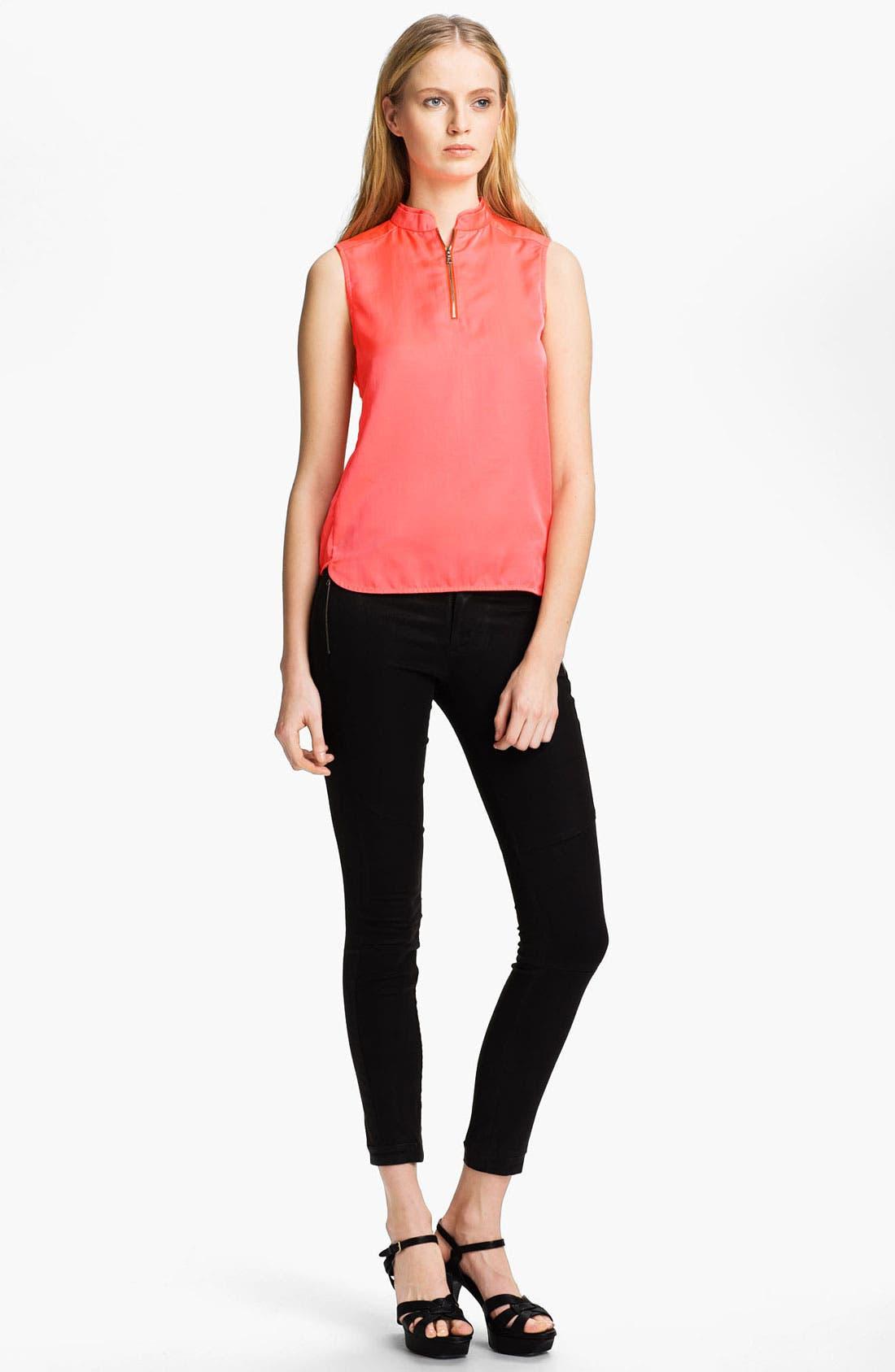 Alternate Image 1 Selected - J Brand Ready-to-Wear 'Katina' Mandarin Collar Top