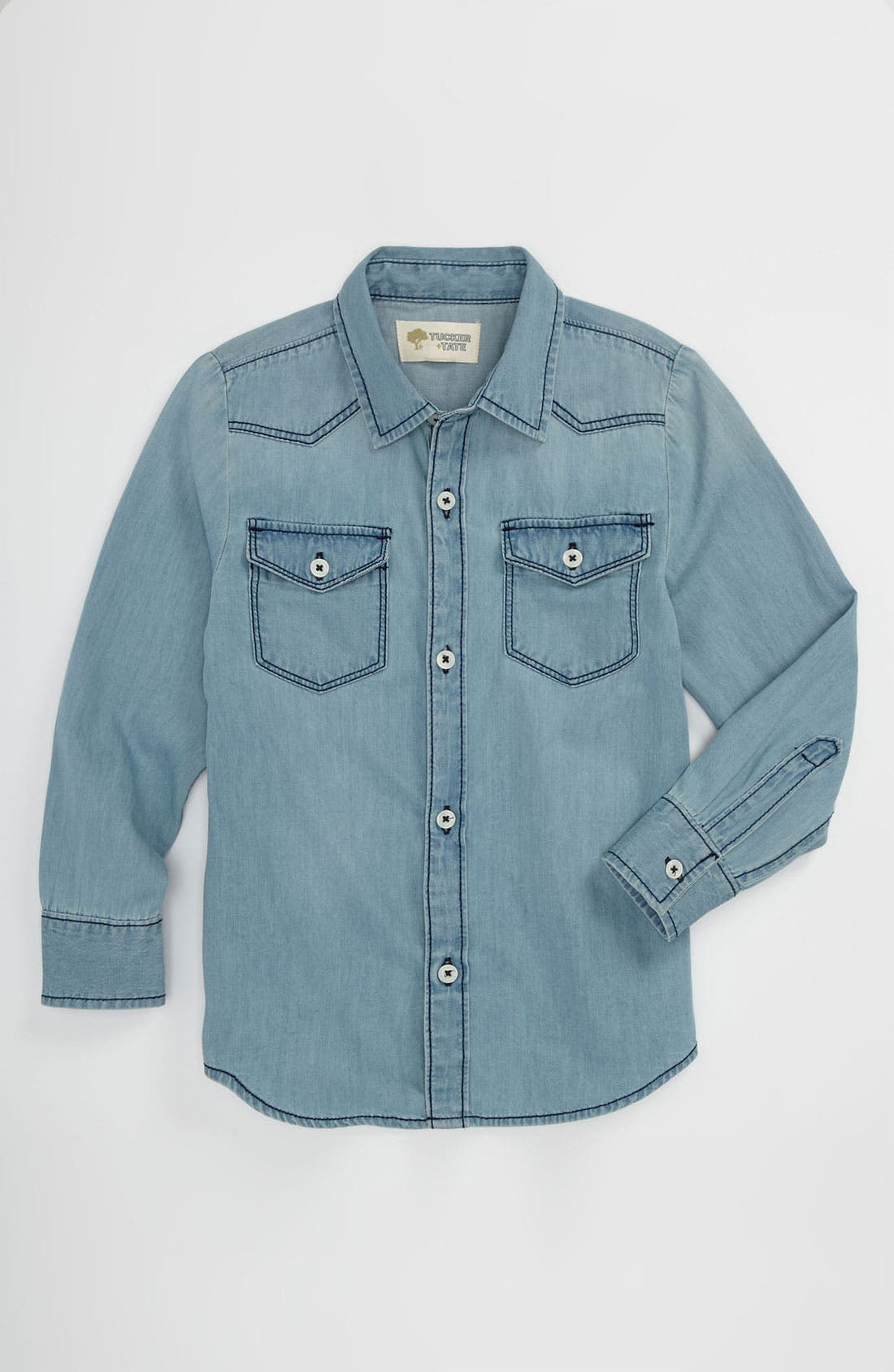 Alternate Image 1 Selected - Tucker + Tate 'Benson' Denim Shirt (Little Boys)