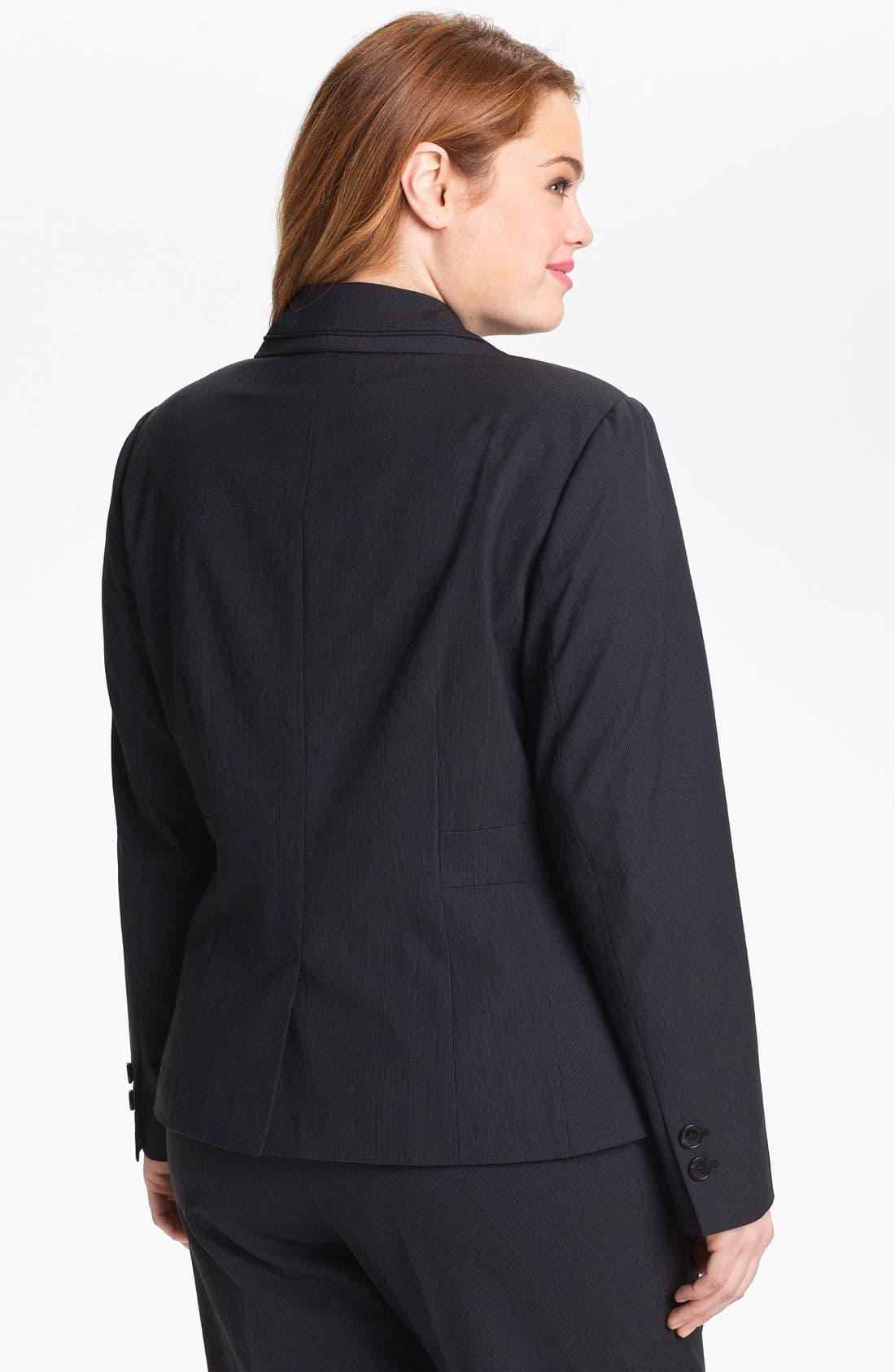 Alternate Image 2  - Sejour 'Boardwalk' Suit Jacket (Plus Size)