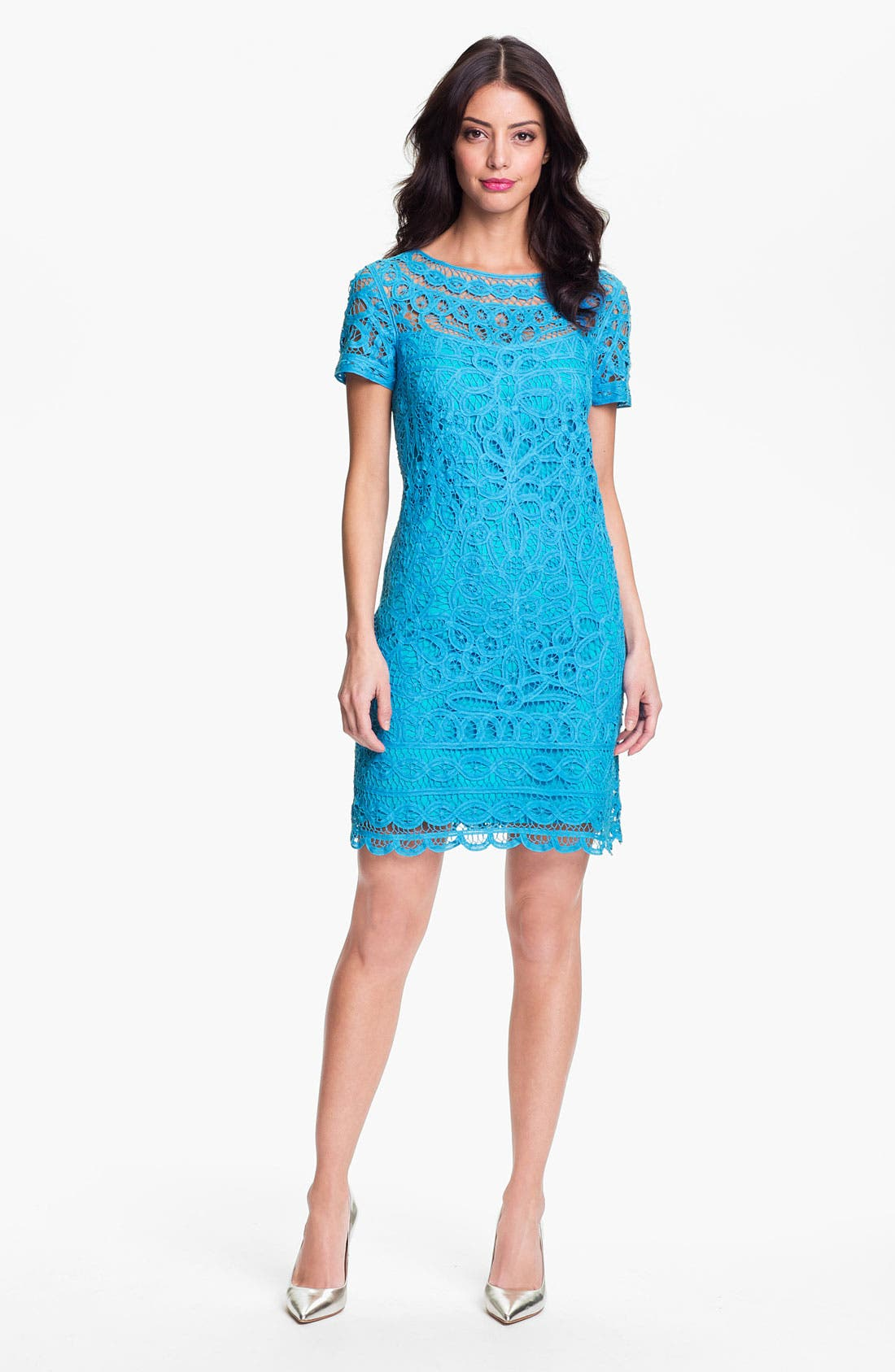 Alternate Image 1 Selected - Lilly Pulitzer® 'Marie Kate' Lace Cotton Dress