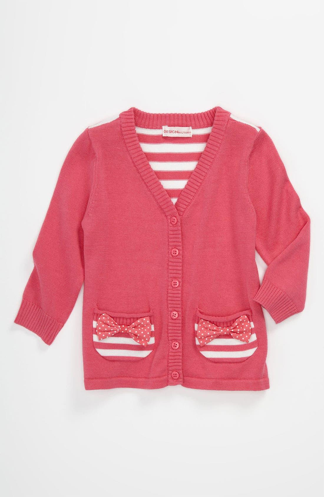 Main Image - Design History Cardigan (Baby)
