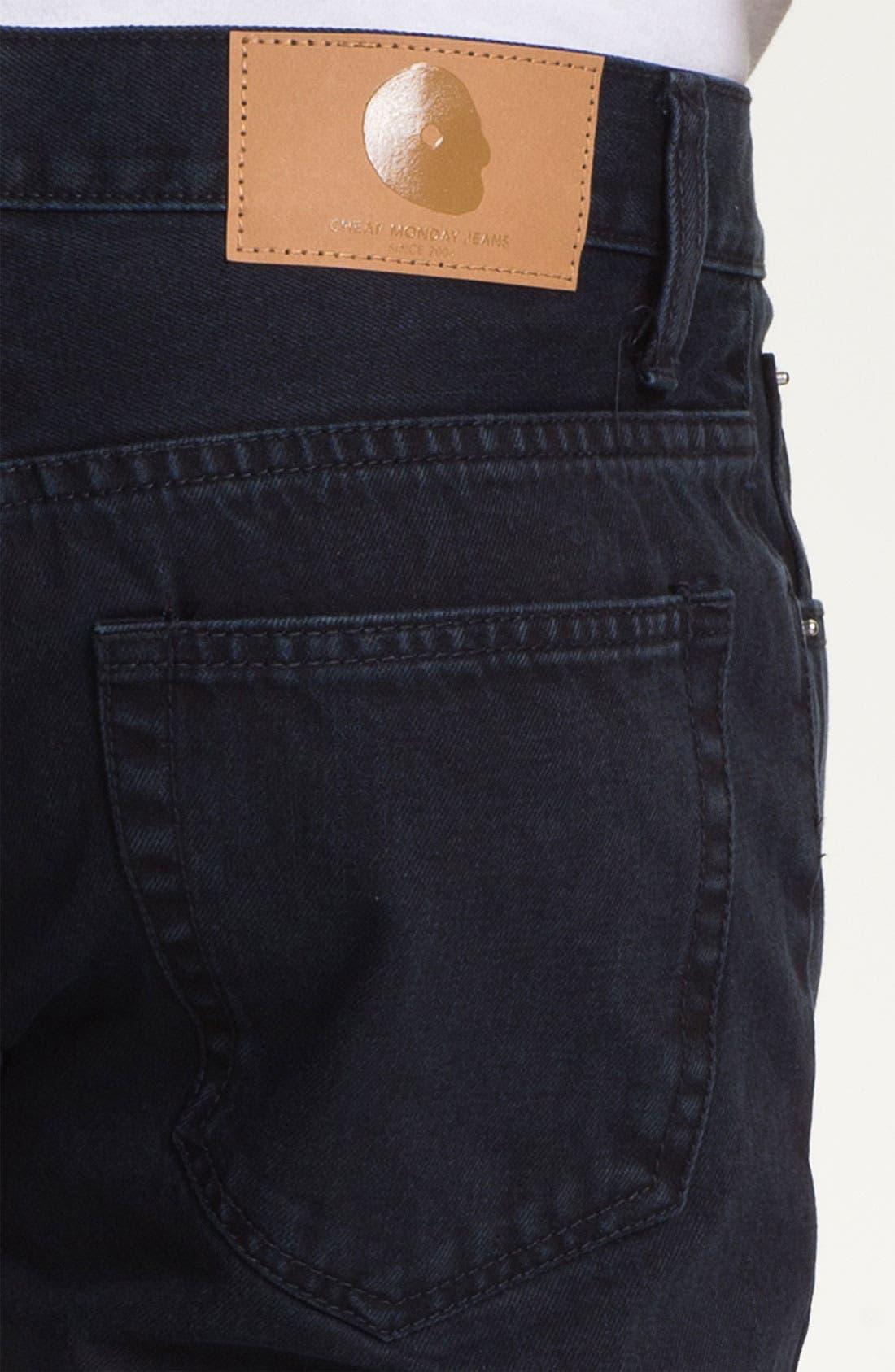 Alternate Image 4  - Cheap Monday High Slim Leg Jeans (Blue Tonal)