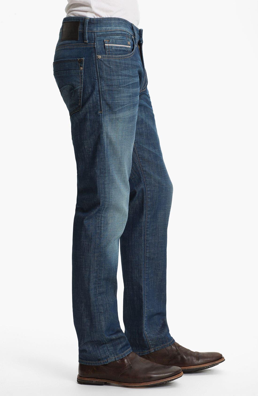 Alternate Image 3  - Mavi Jeans 'Zach' Straight Leg Jeans (Mid White Edge)