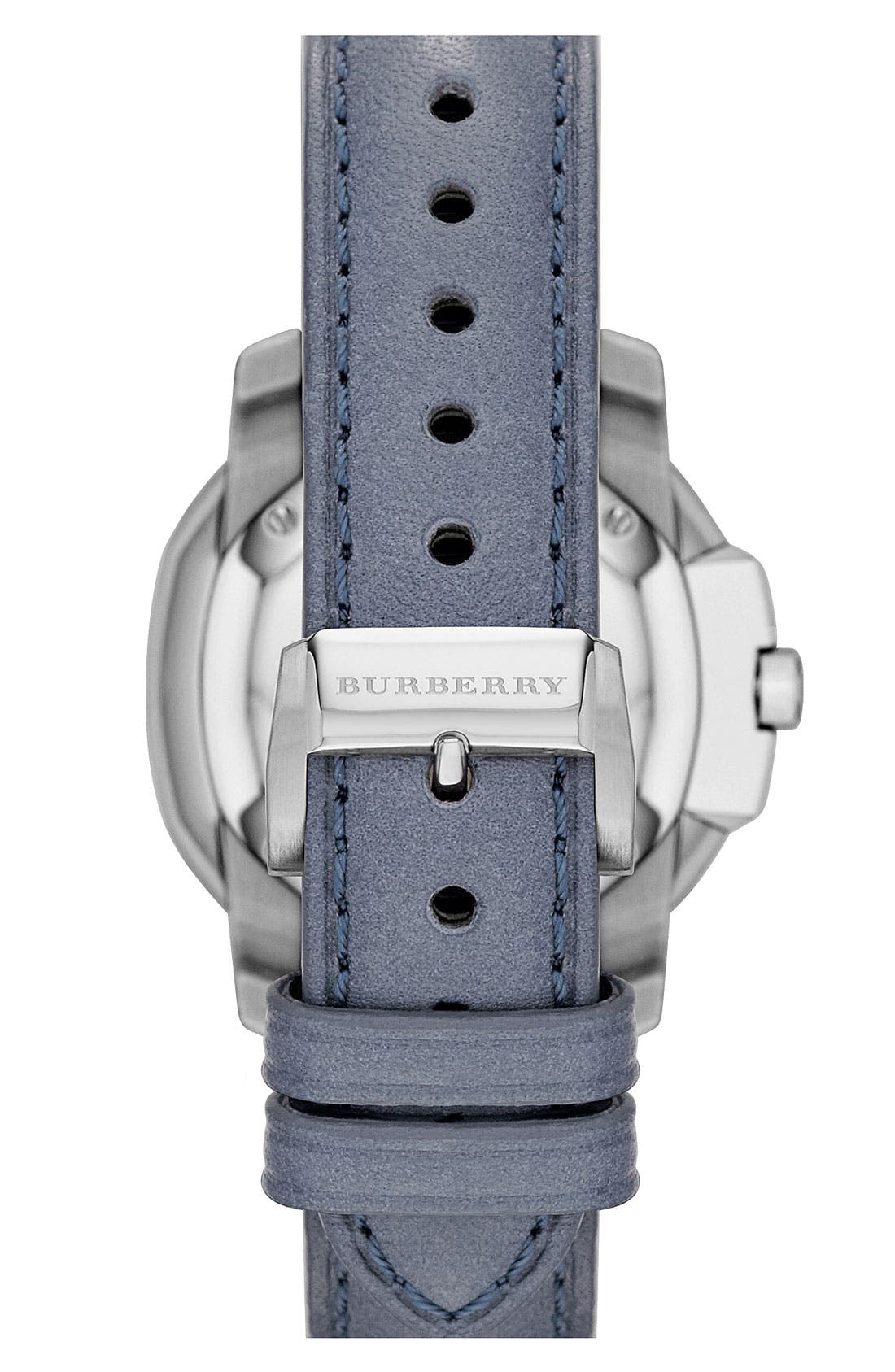 Alternate Image 2  - Burberry The Britain Leather Strap Watch, 34mm