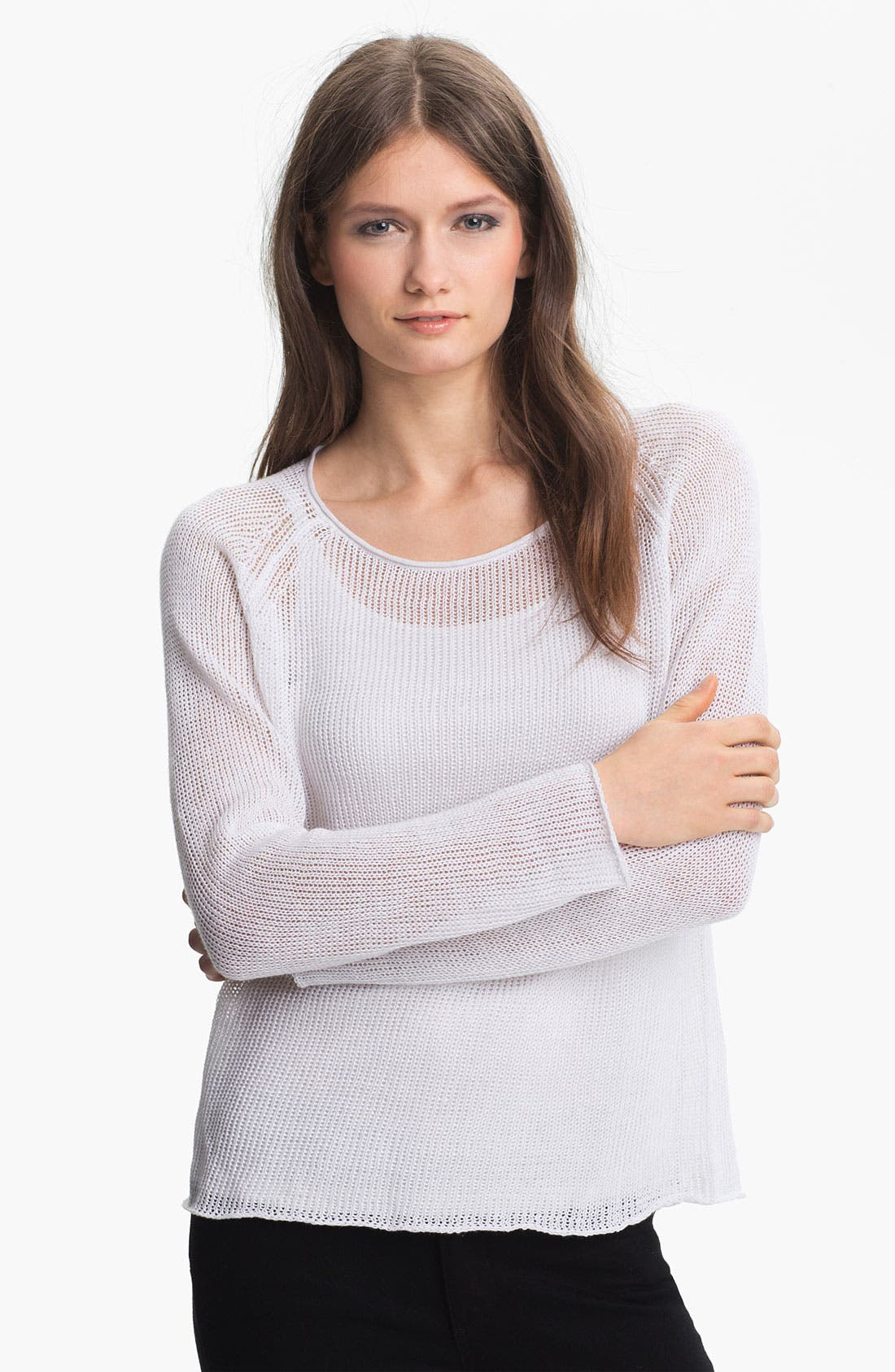Alternate Image 1 Selected - Eileen Fisher Scoop Neck Raglan Sleeve Top