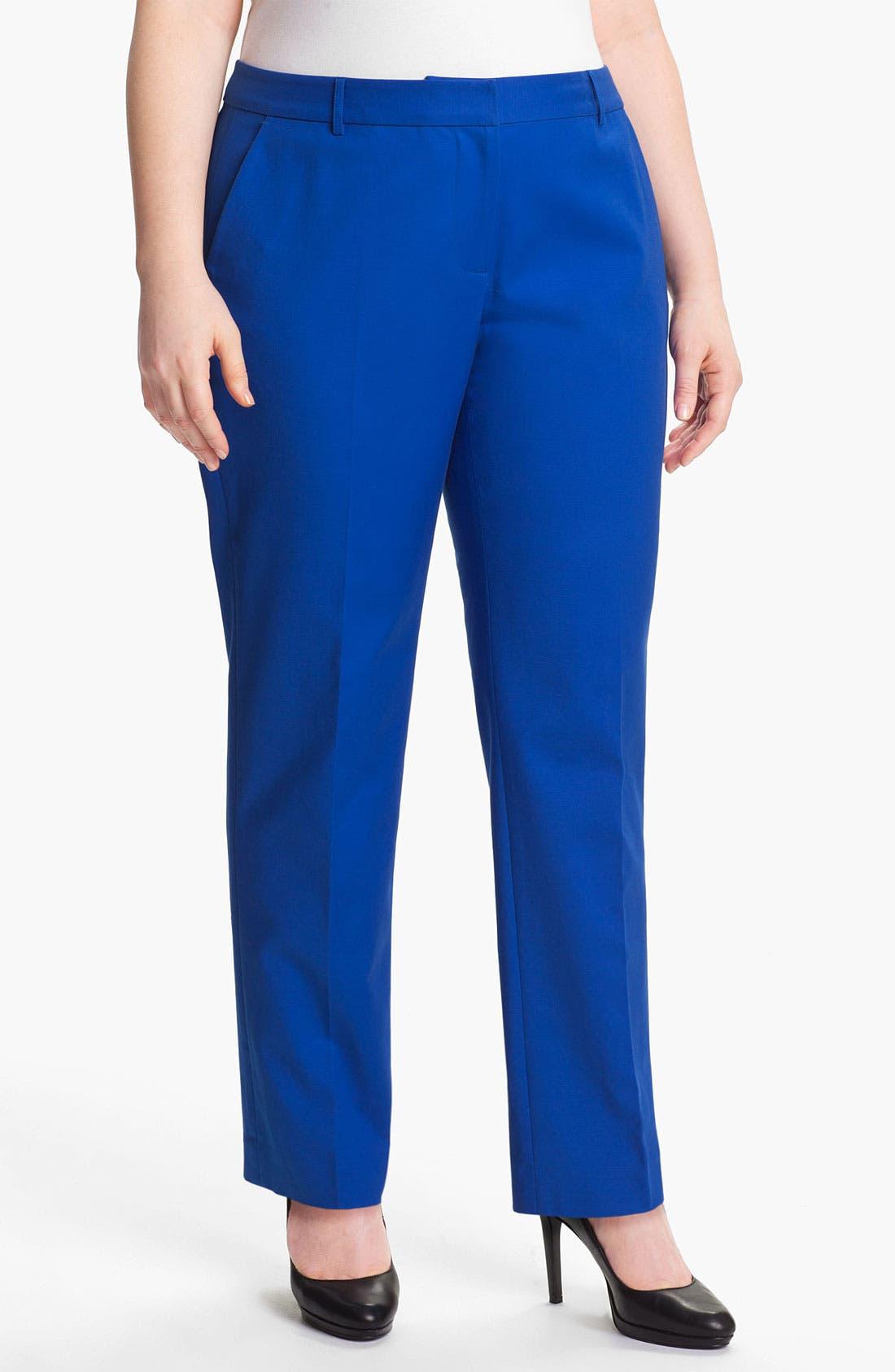 Alternate Image 1 Selected - MICHAEL Michael Kors Straight Leg Pants (Plus)