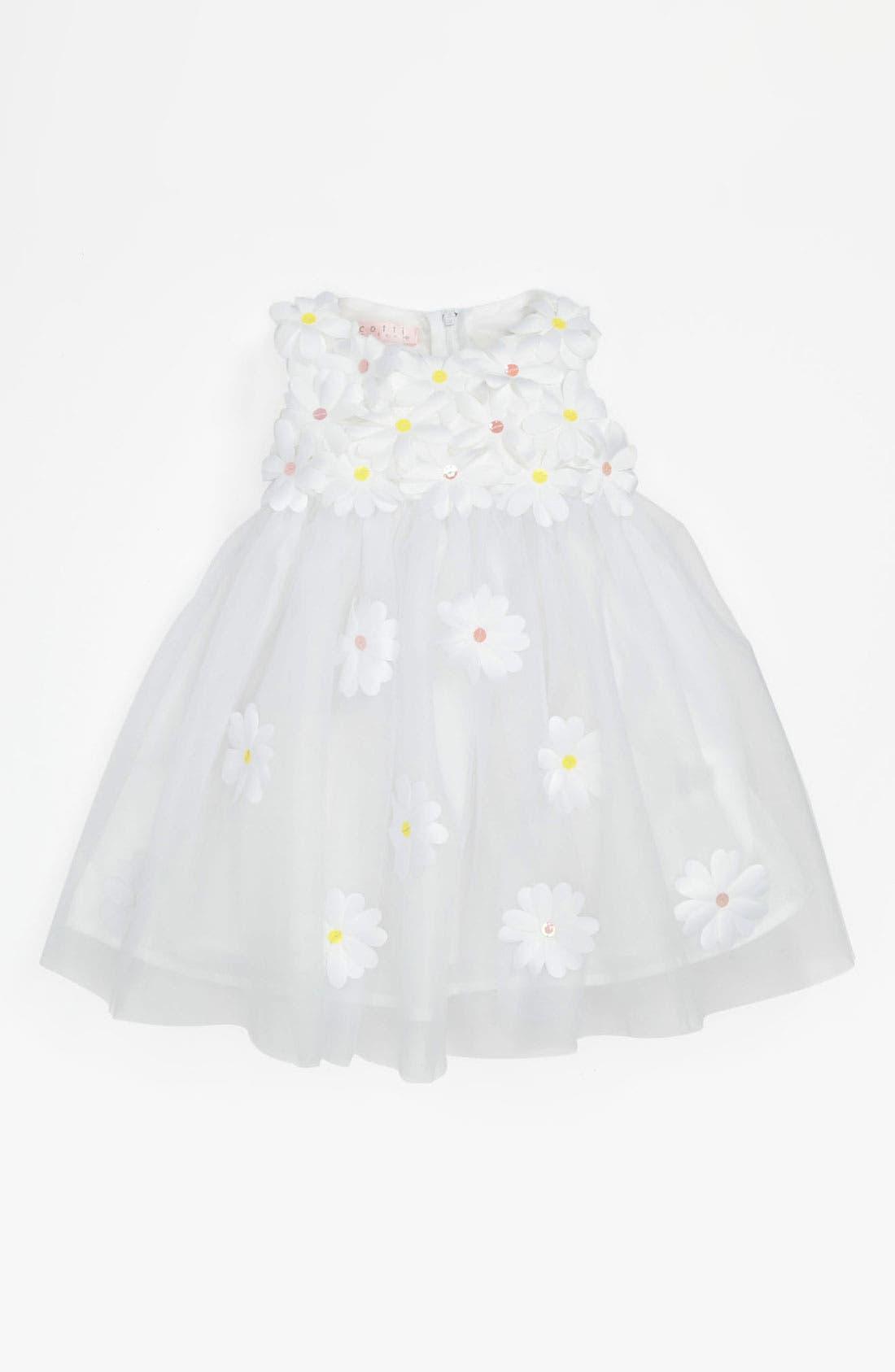 Main Image - Biscotti 'Crazy For Daisies' Dress (Baby Girls)