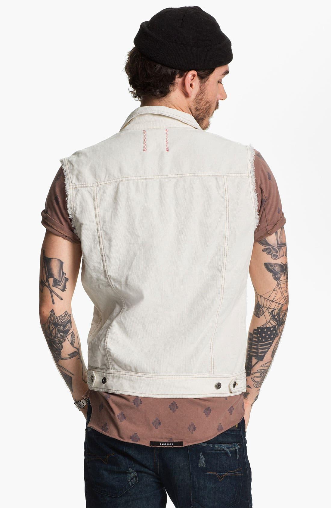 Alternate Image 2  - Vintage Red Cutoff Corduroy Vest