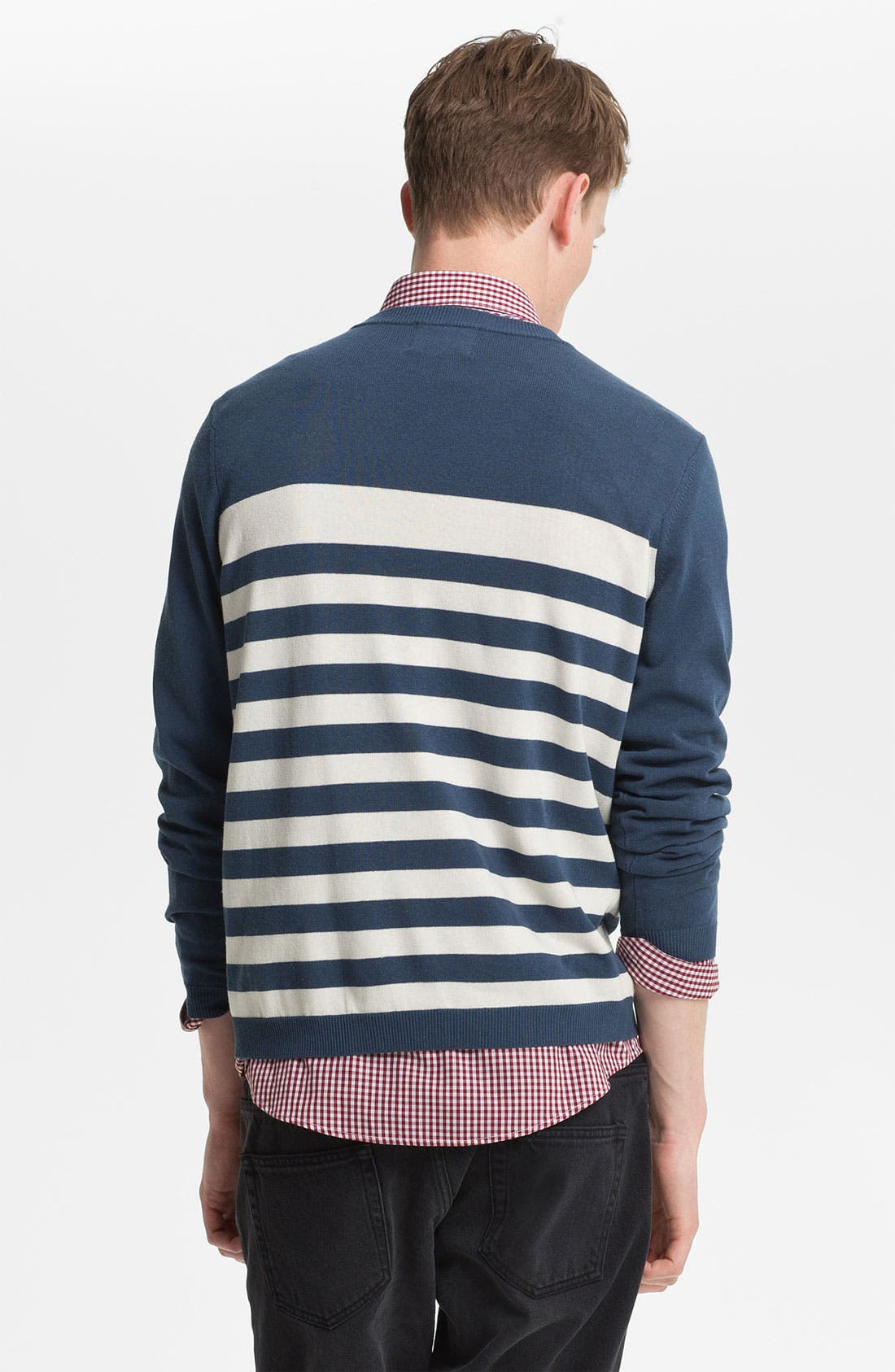 Alternate Image 2  - Topman Stripe Sweater