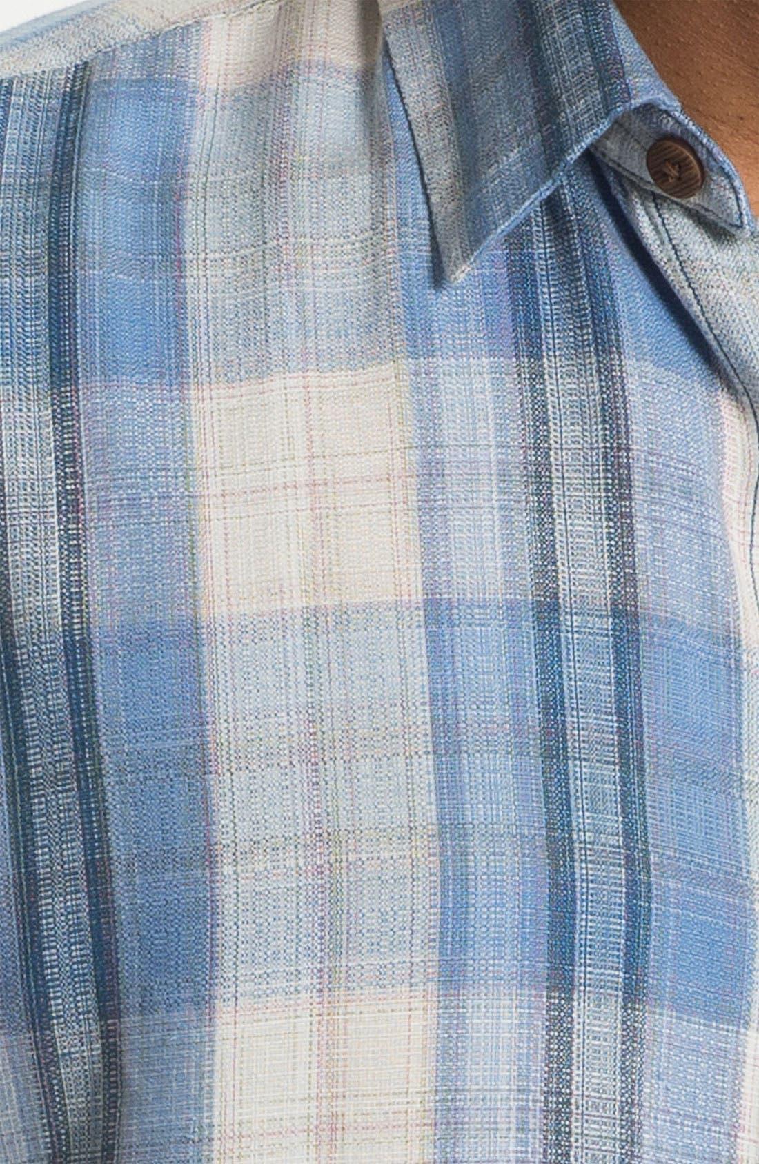 Alternate Image 3  - Tommy Bahama 'Seaside Plaid' Silk Campshirt (Big & Tall)