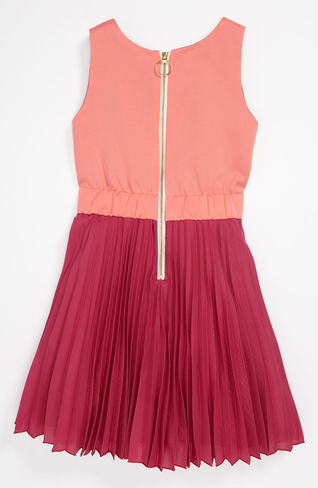 Alternate Image 2  - Zoe Pleat Dress (Big Girls)