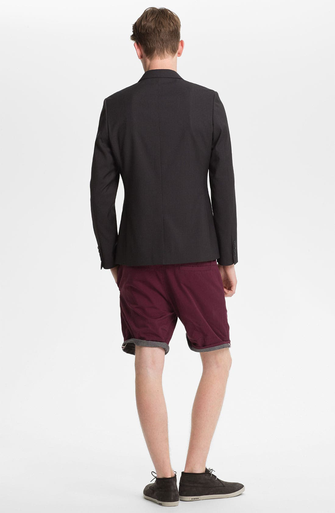 Alternate Image 3  - Topman Turn-Up Chino Shorts