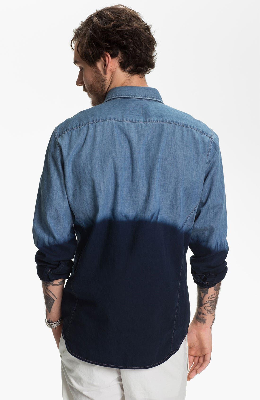 Alternate Image 2  - BOSS Orange 'Eddaie' Dip Dye Denim Shirt