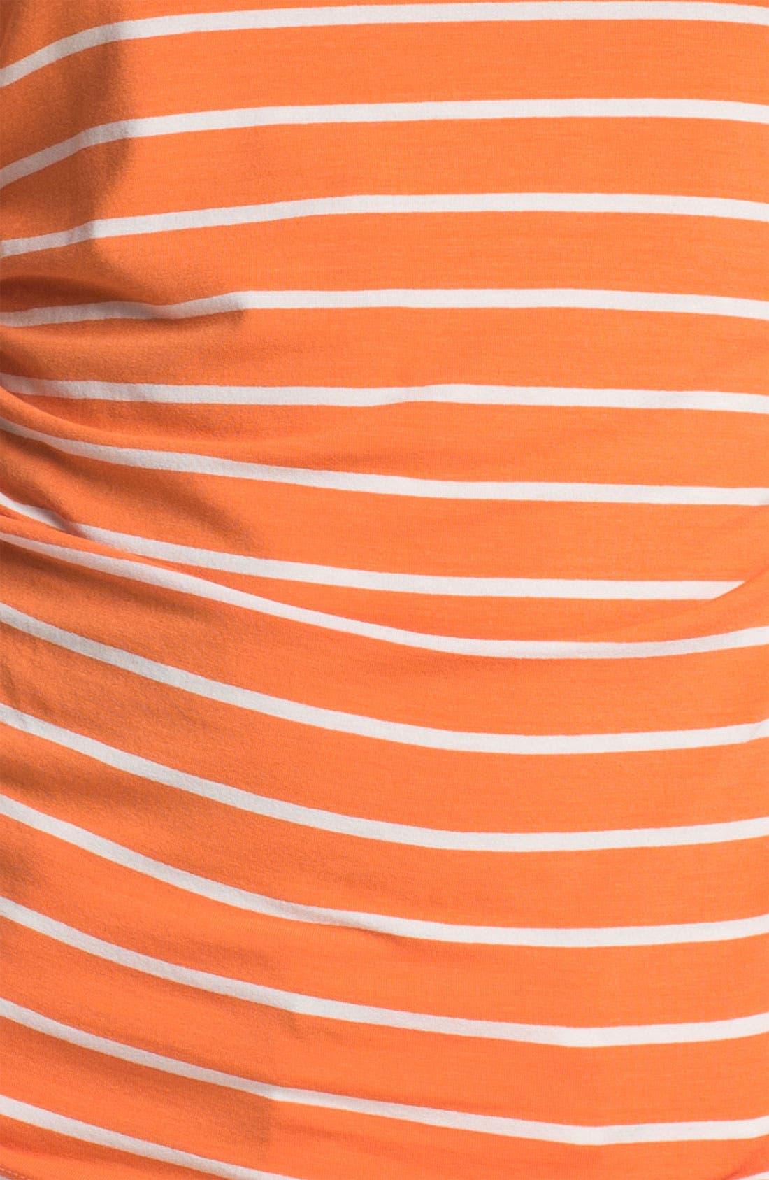 Alternate Image 3  - Vince Camuto Elbow Sleeve Stripe Tee (Petite)