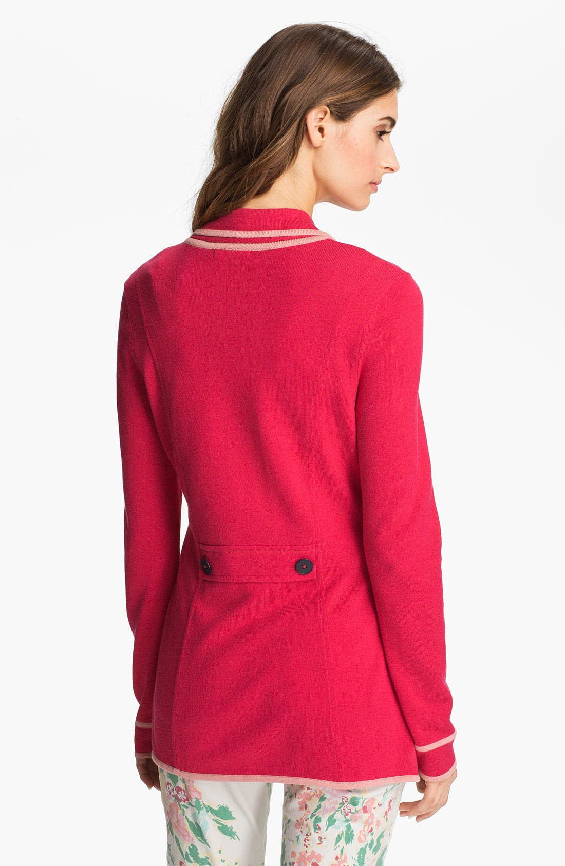 Alternate Image 2  - Nic + Zoe Tipped Sweater Jacket (Petite)