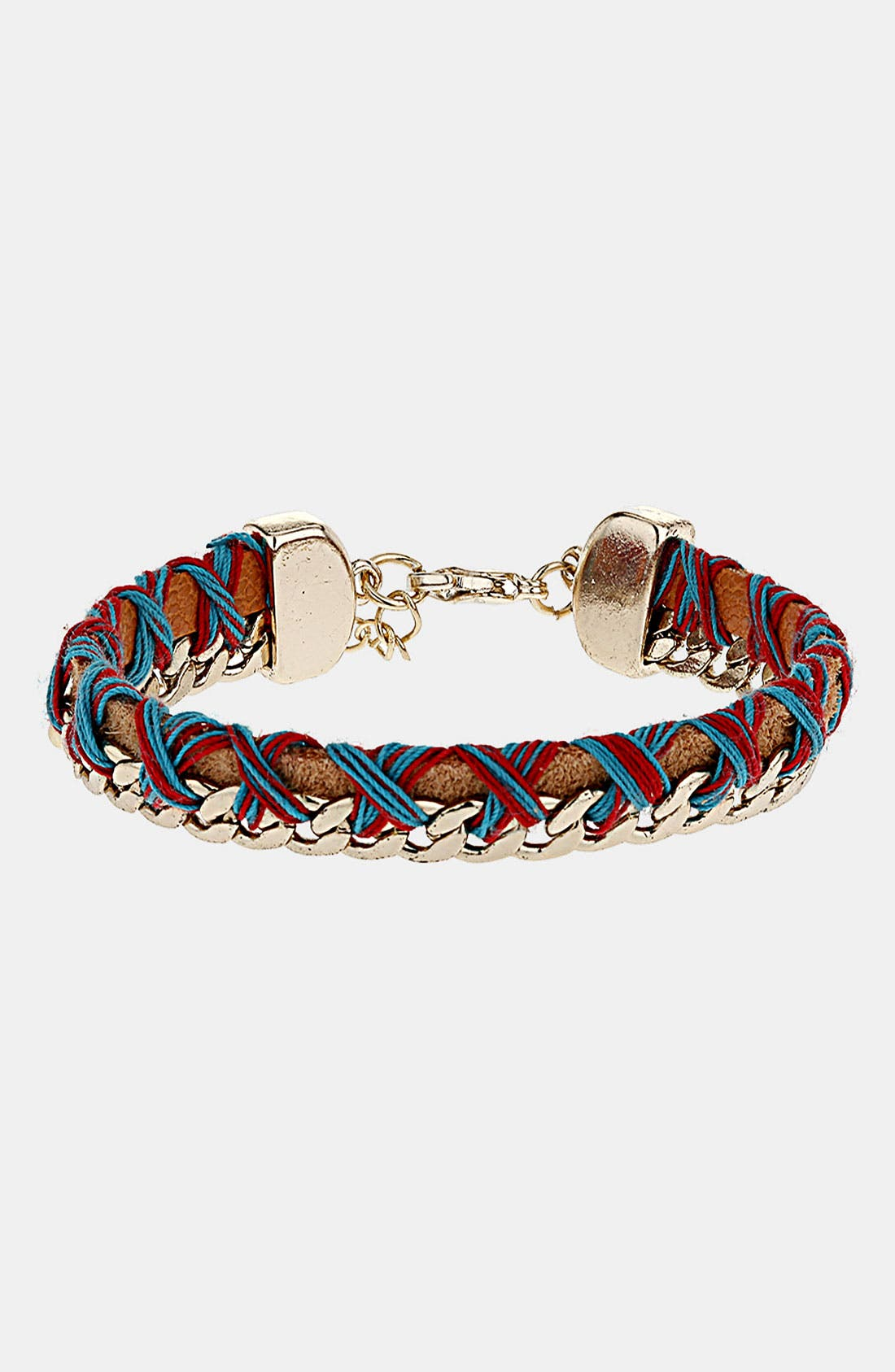 Alternate Image 1 Selected - Topshop Mix Media Bracelet