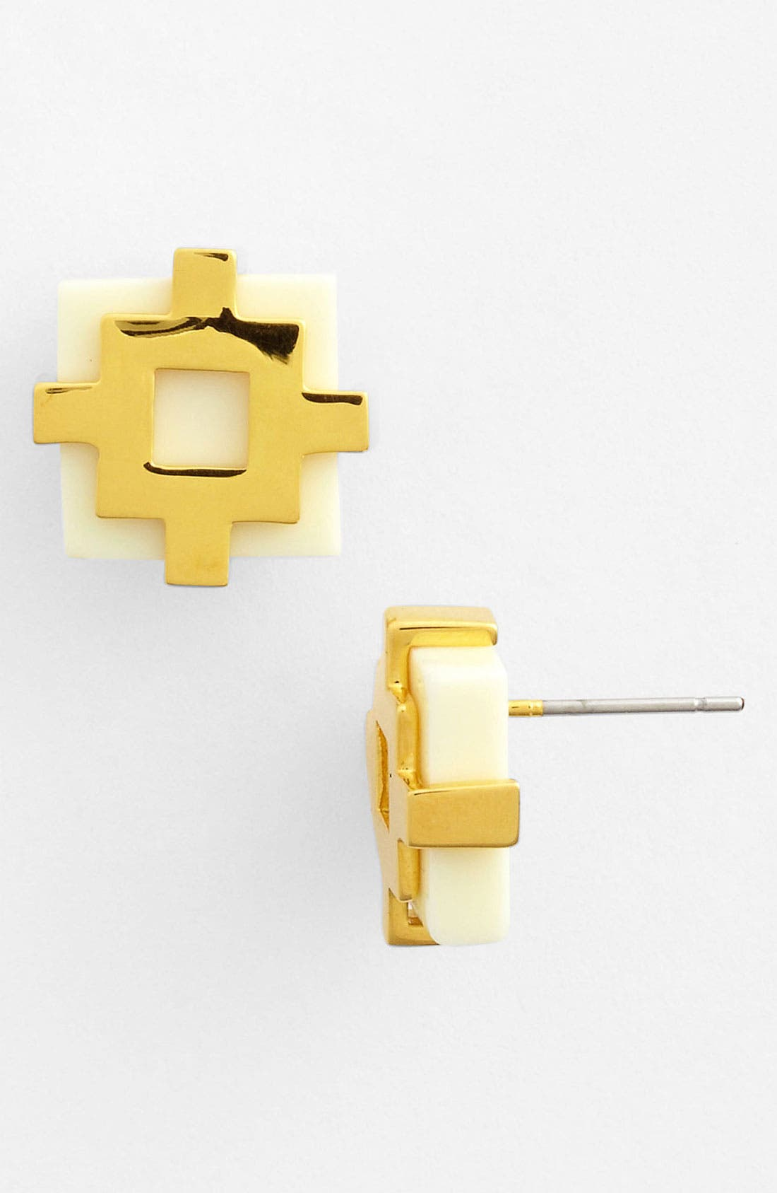 Alternate Image 1 Selected - Tory Burch 'Carson' Stud Earrings