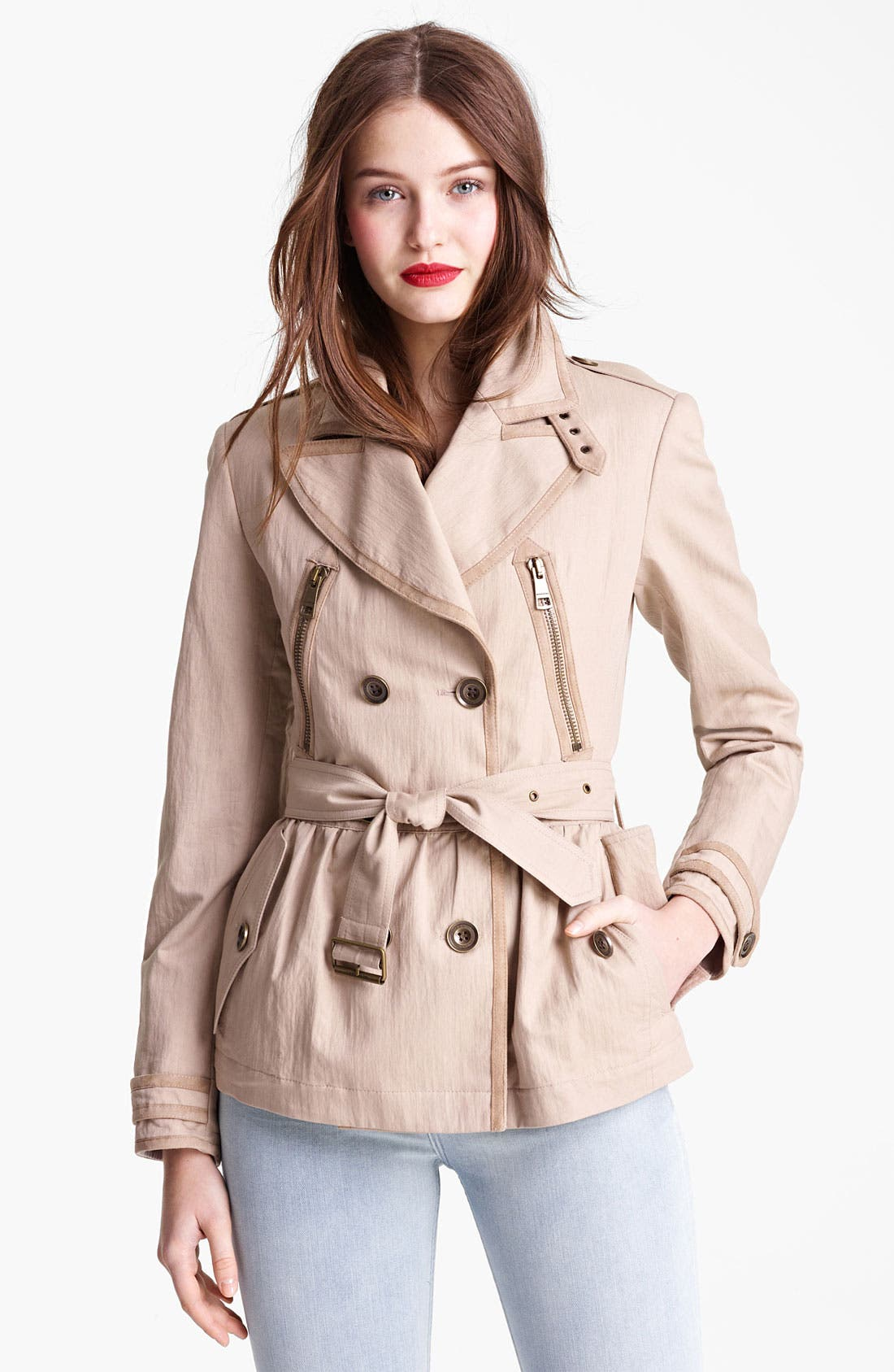 Alternate Image 1 Selected - Burberry Brit 'Stainesby' Trench Coat (Online Only)