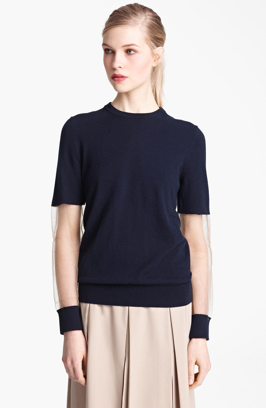 Alternate Image 2  - Michael Kors Illusion Sleeve Cashmere Sweater