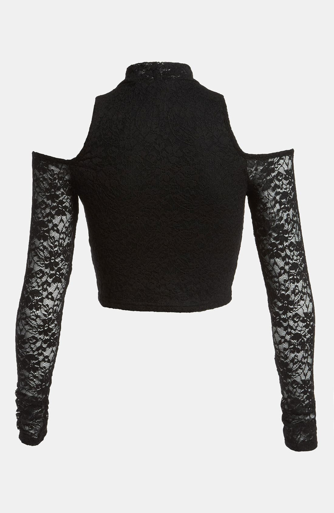 Alternate Image 3  - MINKPINK 'Imogen' Stretch Lace Crop Top