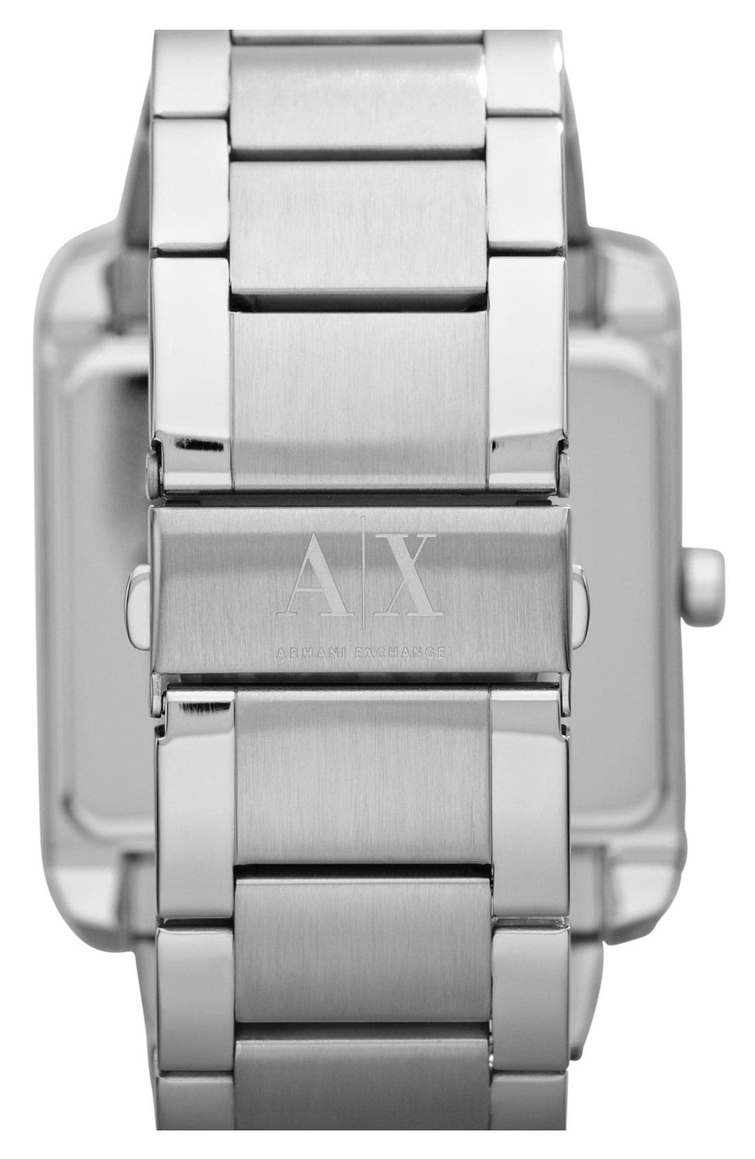 Alternate Image 2  - AX Armani Exchange Rectangular Bracelet Watch, 46mm x 43mm