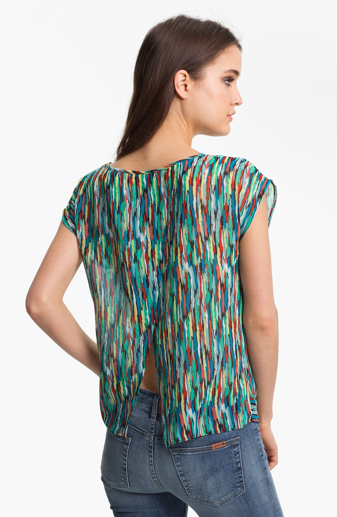 Alternate Image 2  - Trouvé Print Tie Hem Top