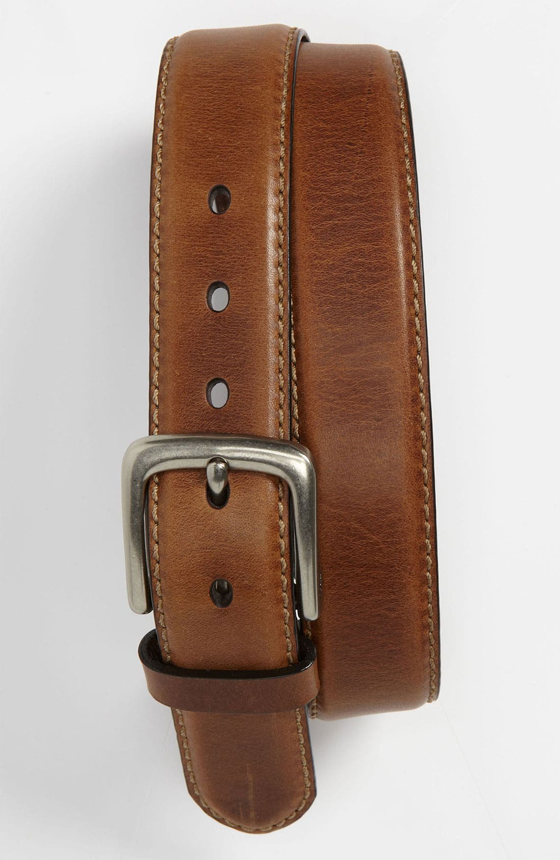 'Aiden' Leather Belt,                             Main thumbnail 1, color,                             Brown